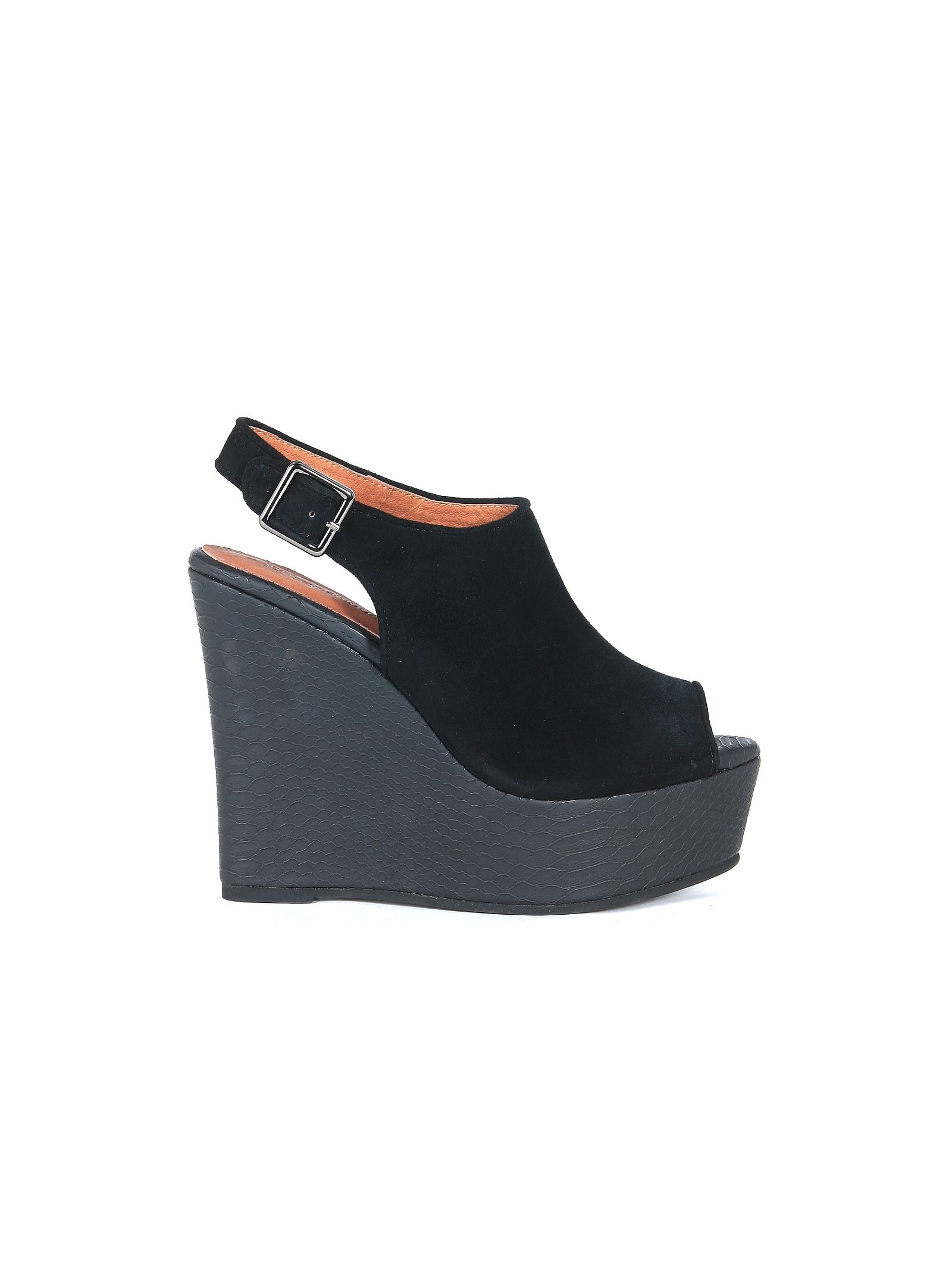jeffrey campbell female  jeffrey campbell dexter wedge sandal in black suede