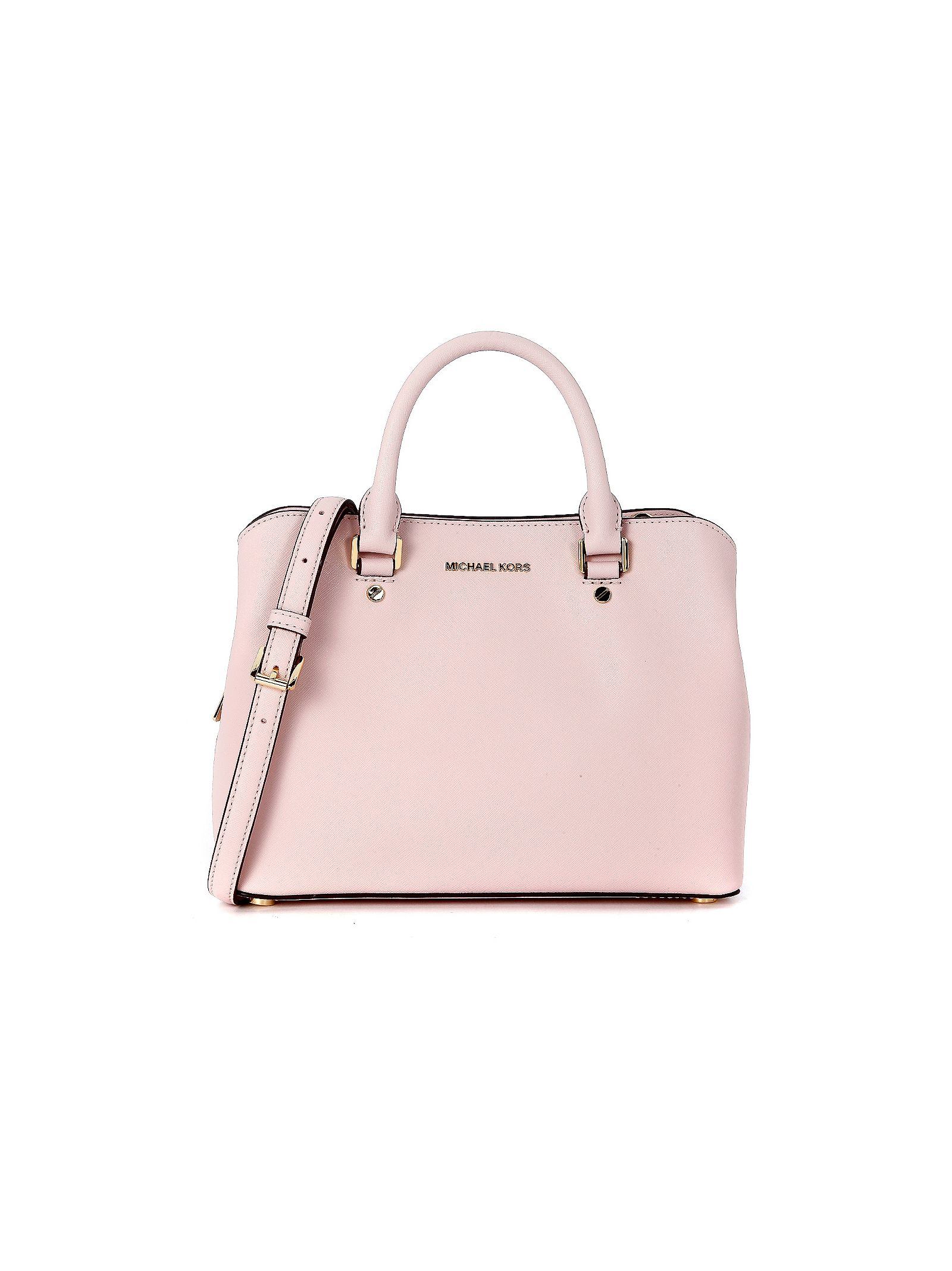 michael kors female  michael kors savannah bag in pale pink saffiano leather
