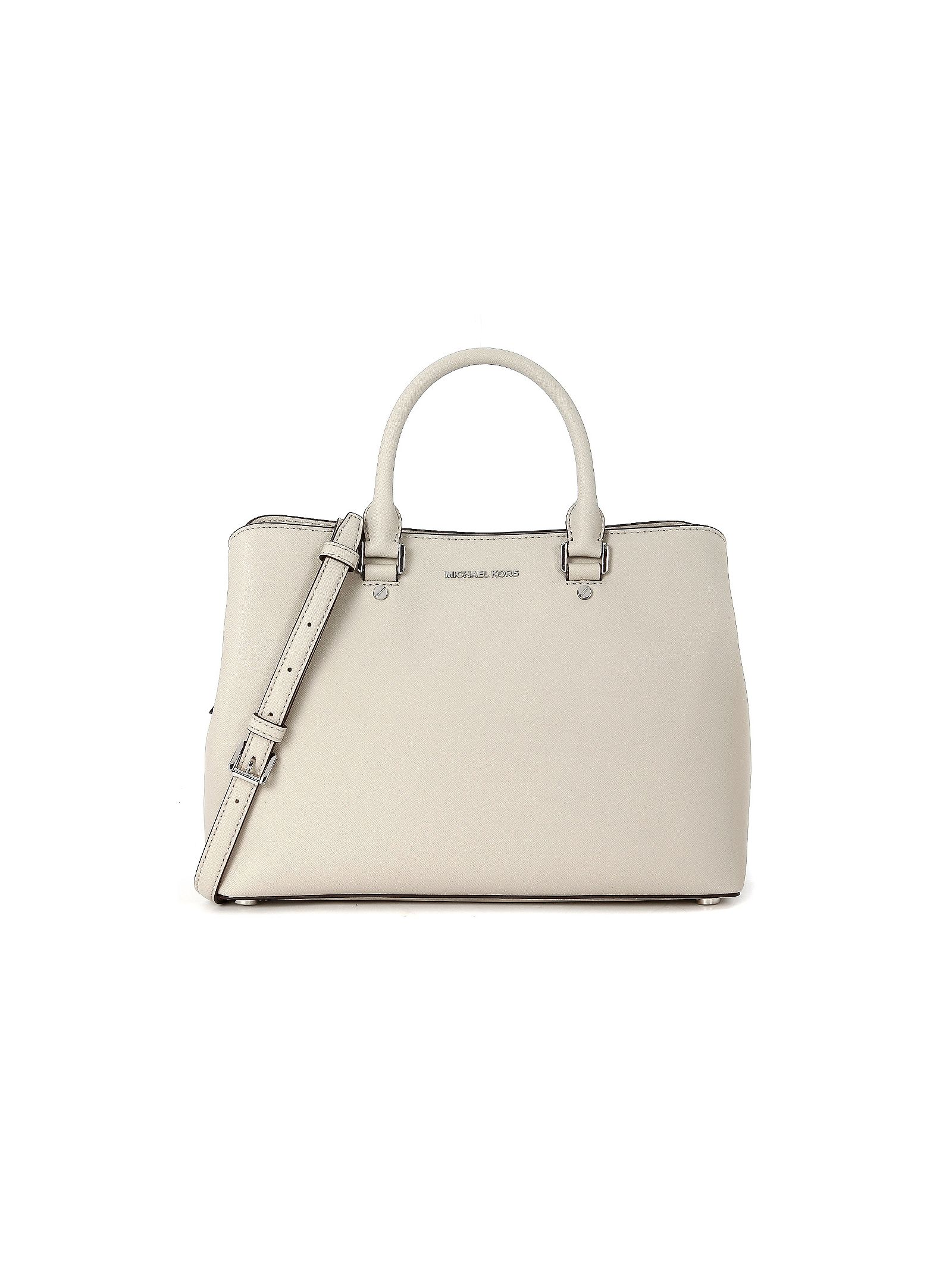 michael kors female  michael kors savannah bag in concrete saffiano leather