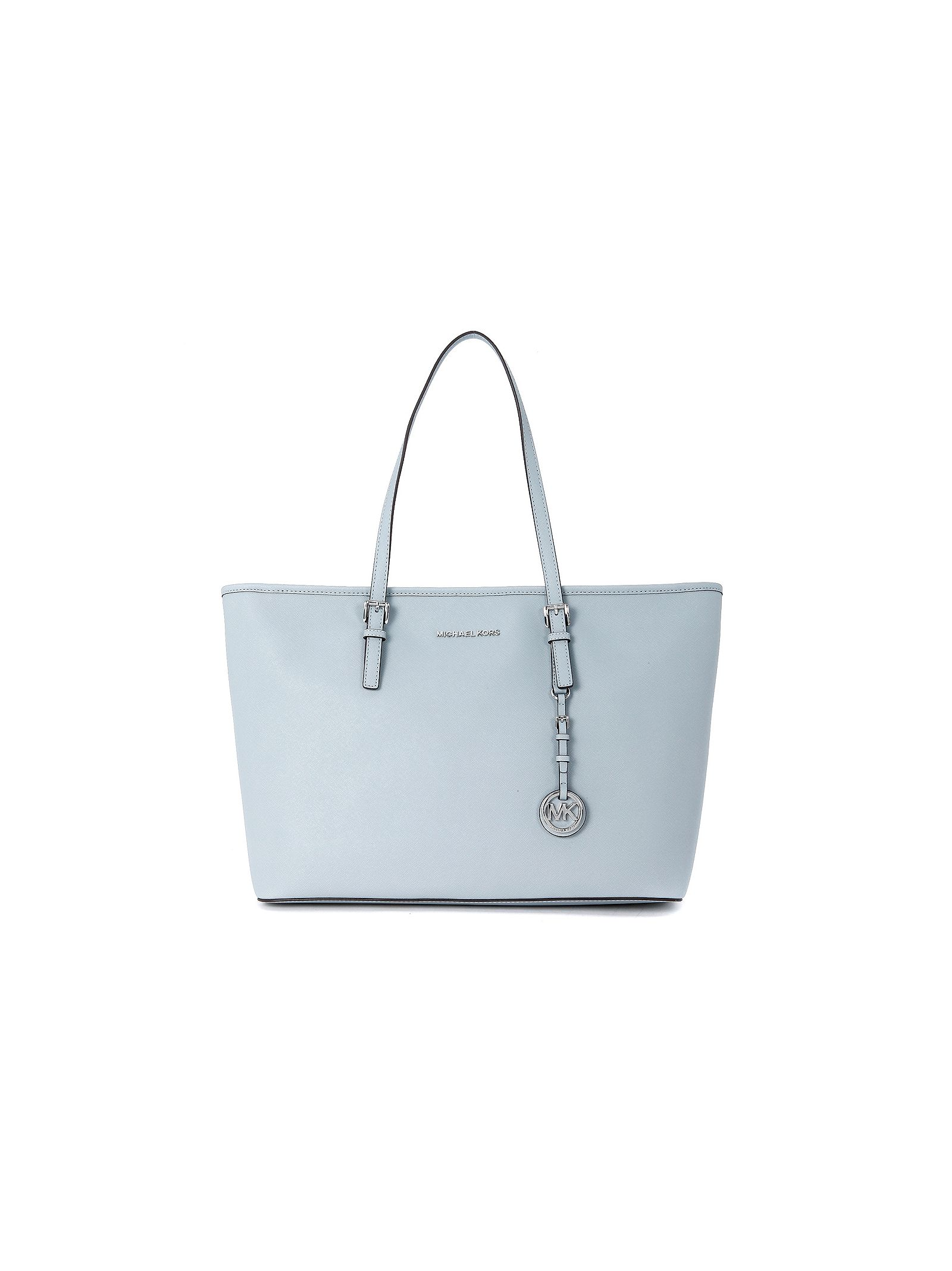 michael kors female  michael kors jet set travel tz robinsegg light blue tote bag