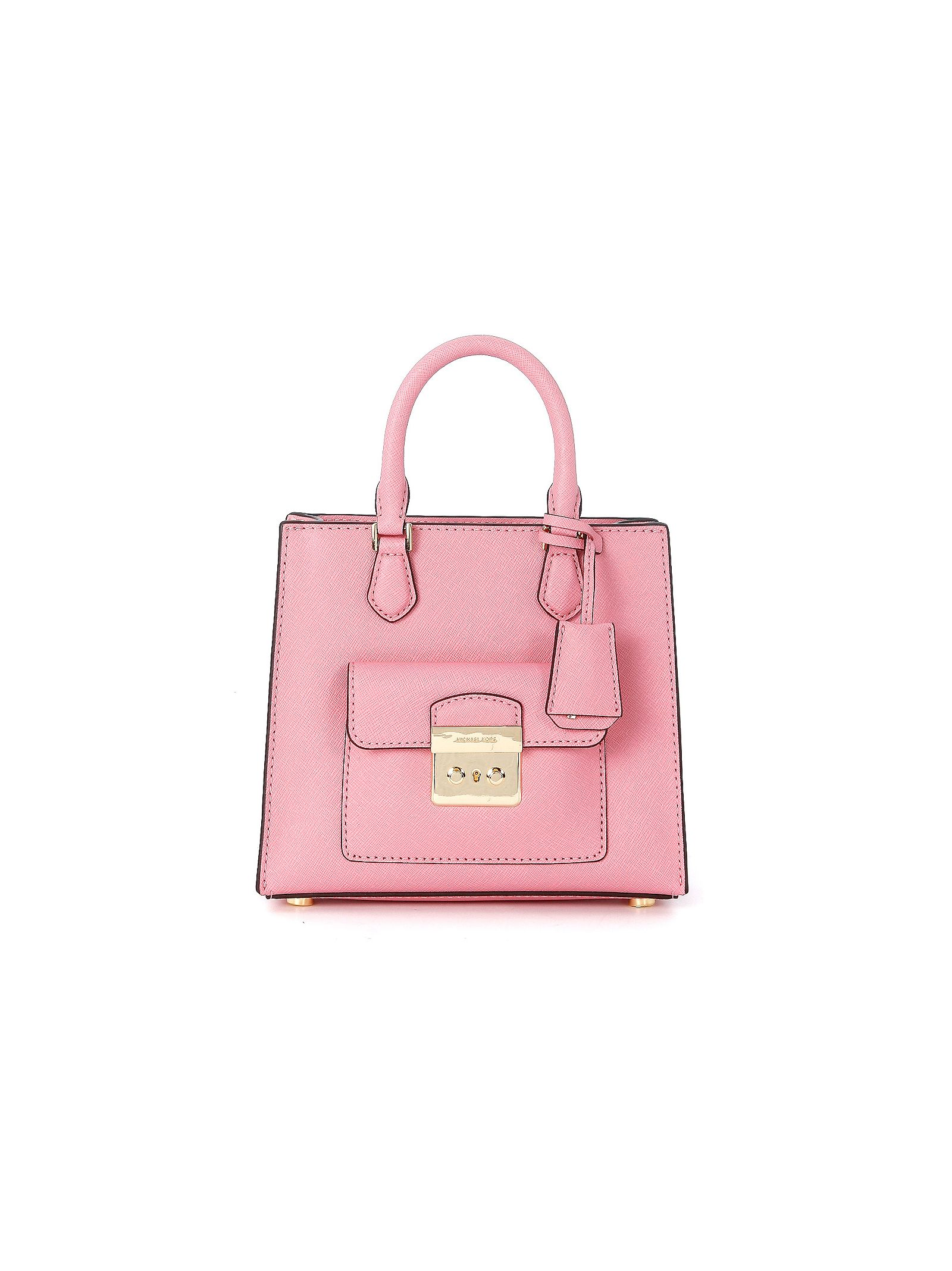 michael kors female  michael kors bridgette pink leather handbag