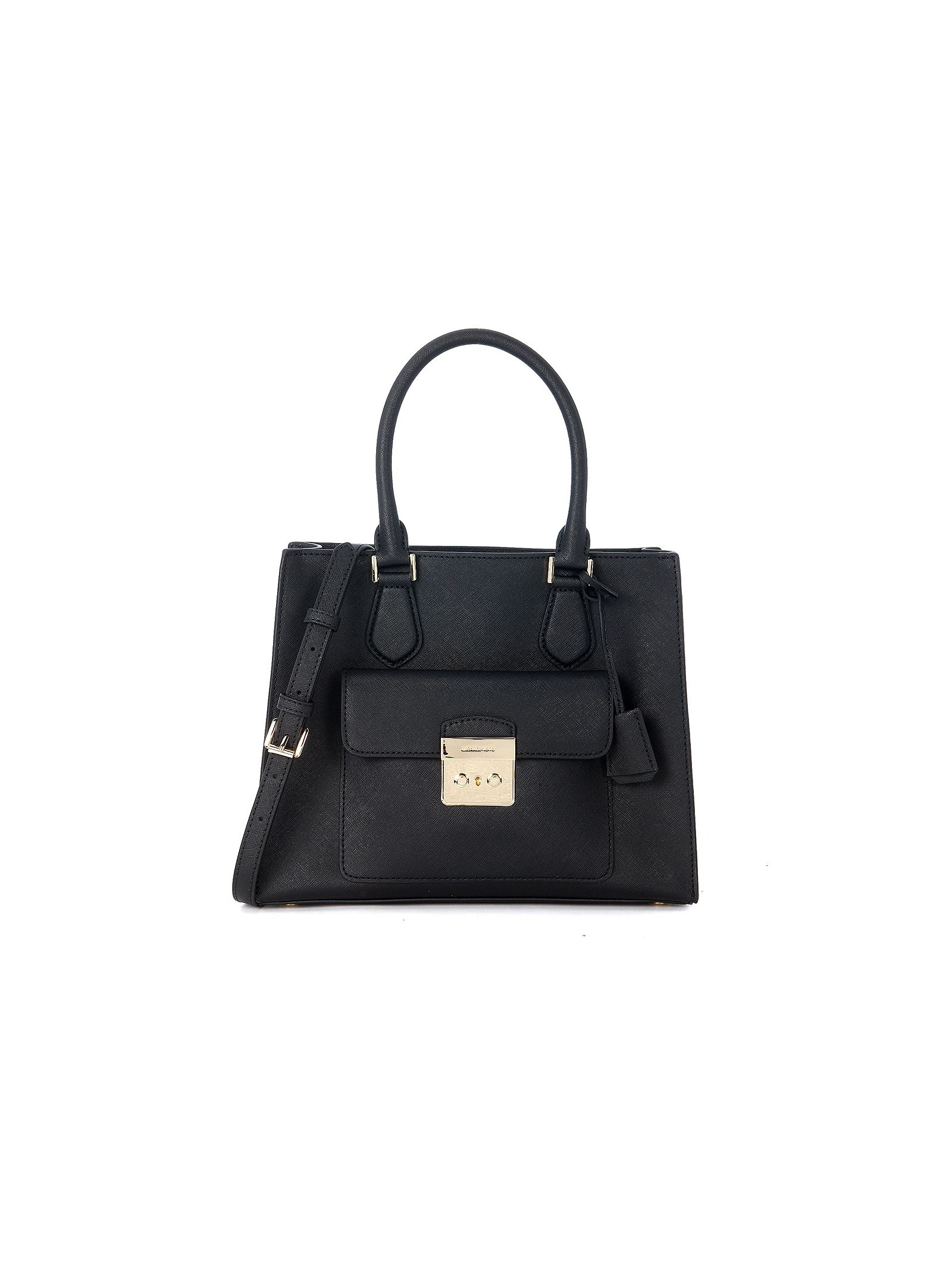 michael kors female  michael kors bridgette black leather handbag