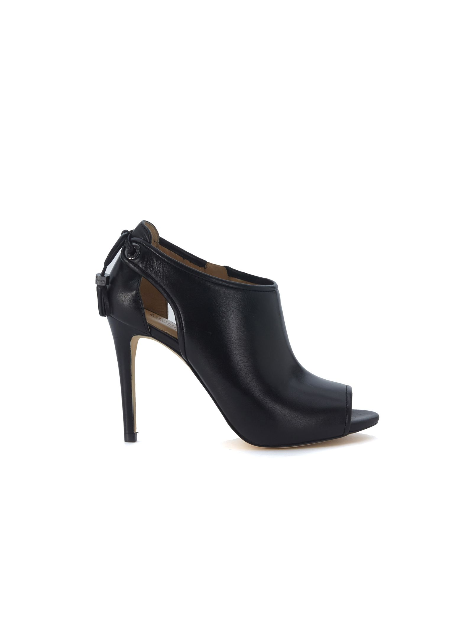 michael kors female michael kors jennings ankle boots in black leather with laces and nappas