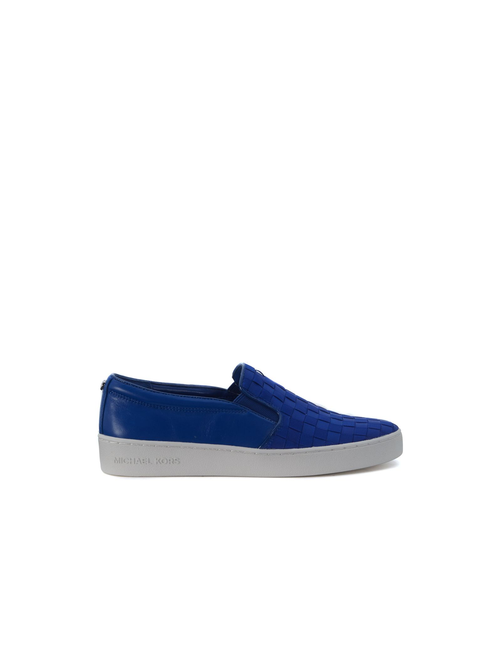 michael kors female slip on michael kors keaton in blue electric leather