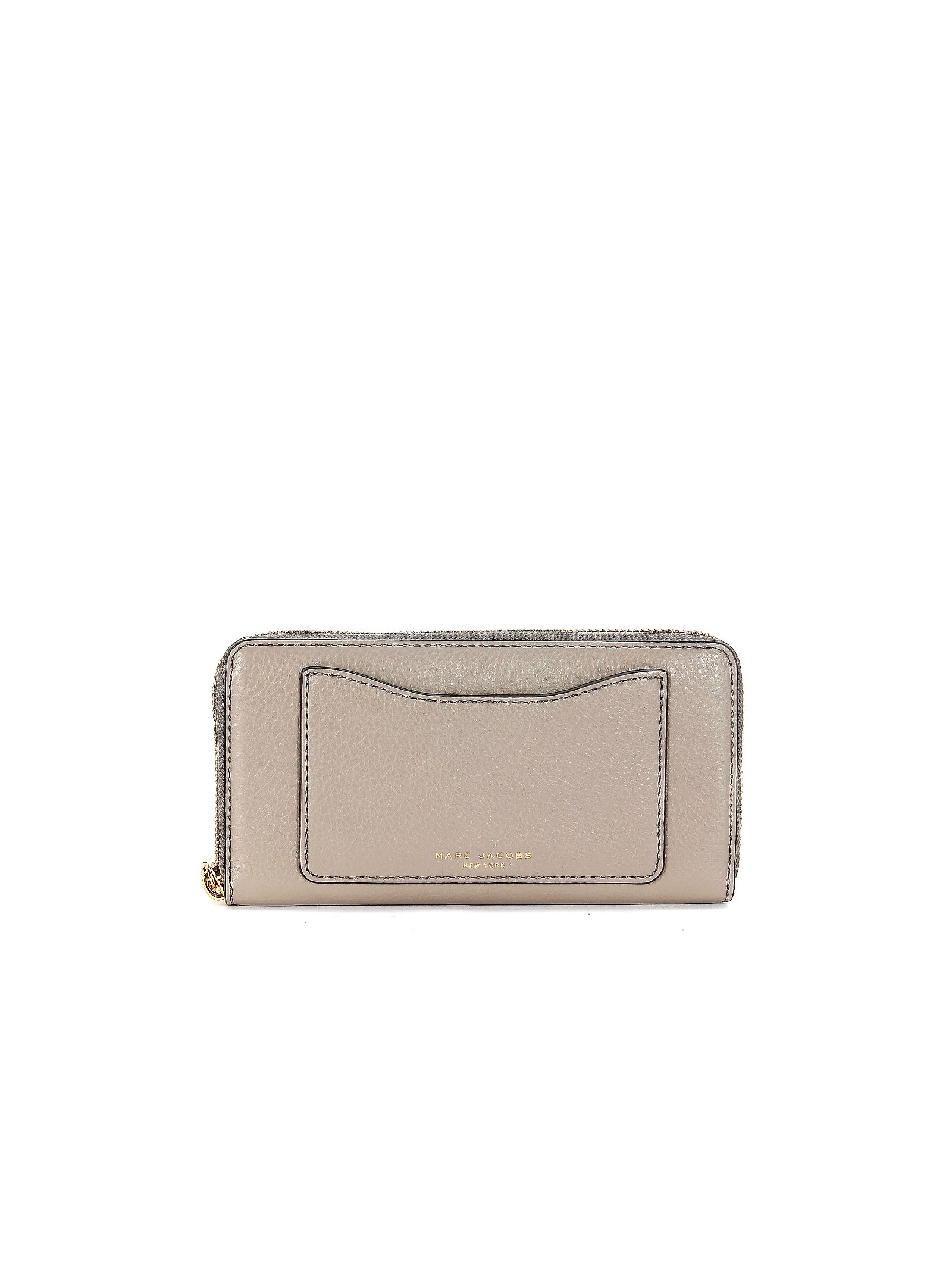 marc jacobs female  marc jacobs recruit slgs wallet in grey tumbled leather