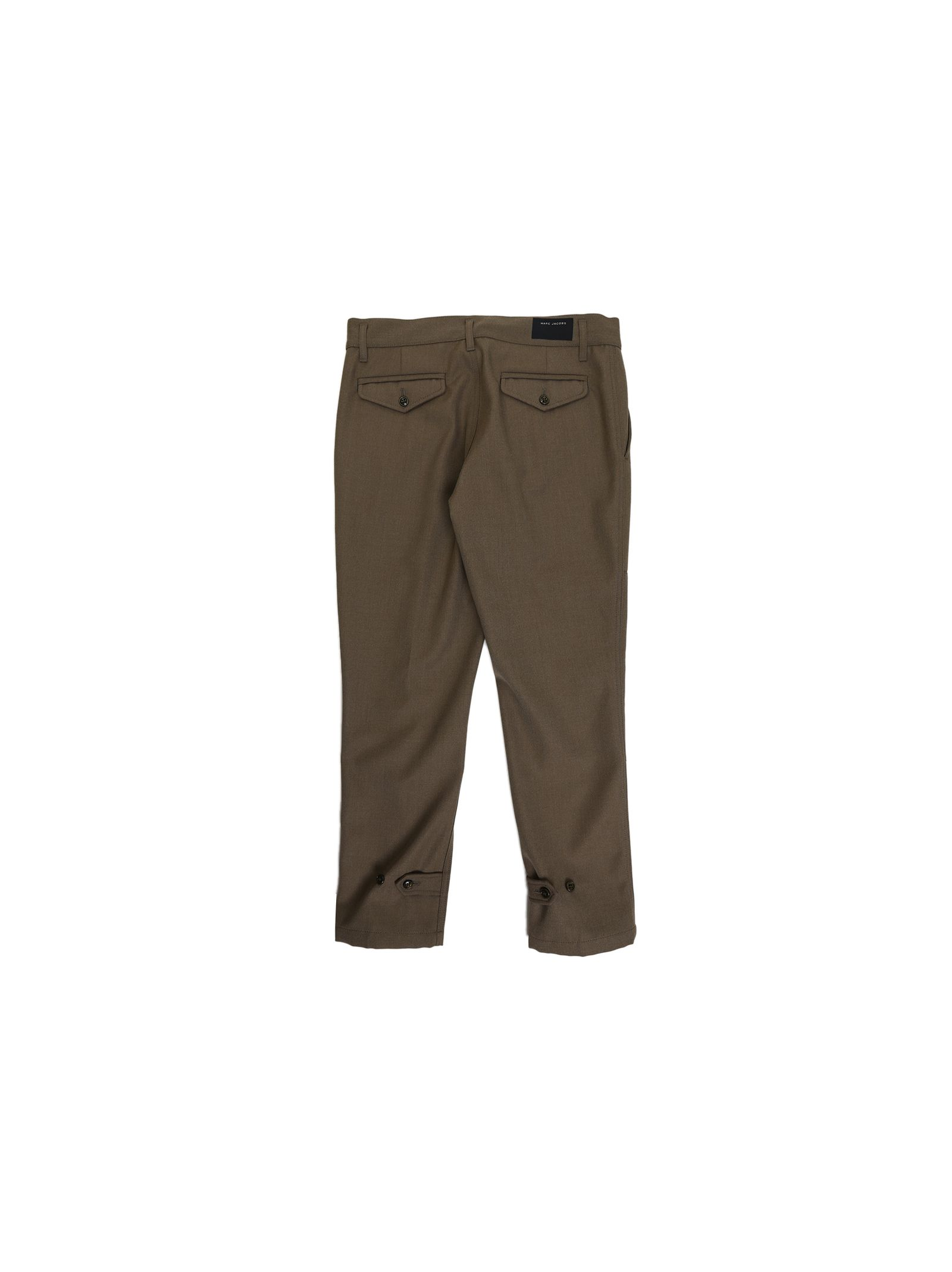 marc jacobs male 227429 military green cotton twill trousers