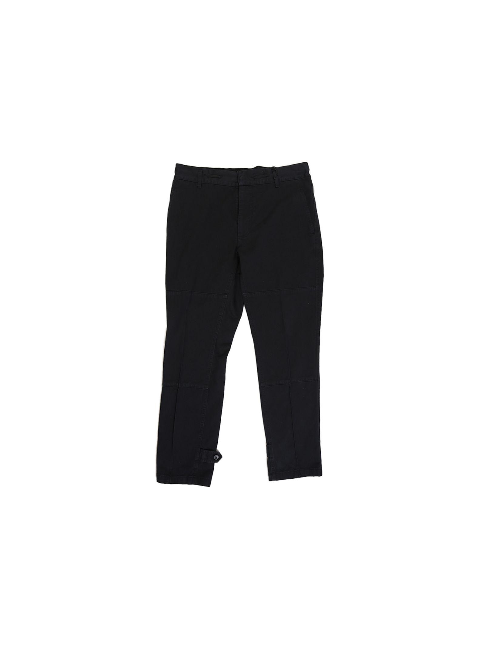 marc jacobs male 188971 black cotton trousers