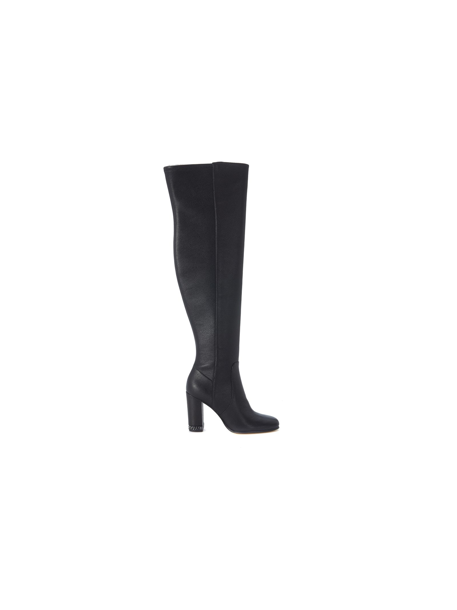 michael kors female michael kors sabrina boots in black elastic leather