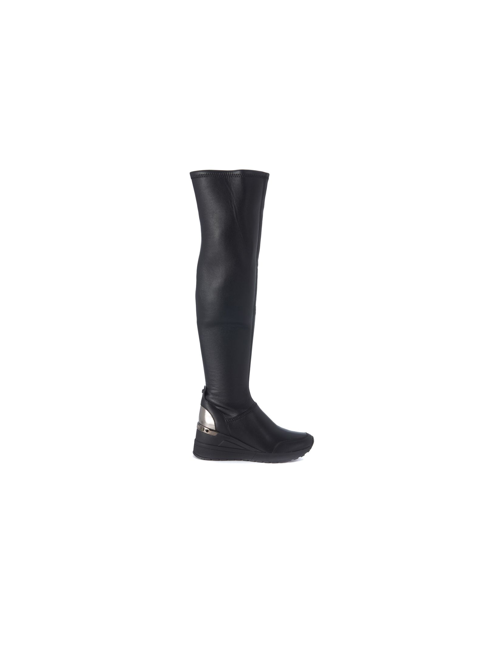 michael kors female michael kors ace black elastic leather boots