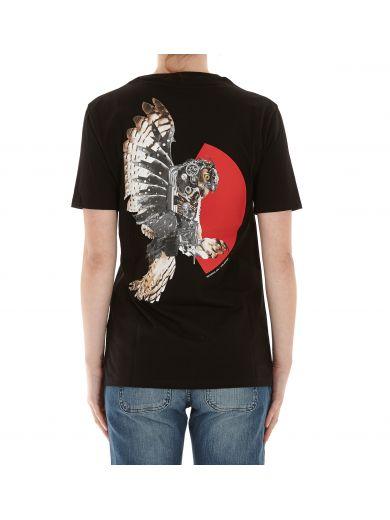 NEIL BARRETT Mechanical Owl Print T-Shirt