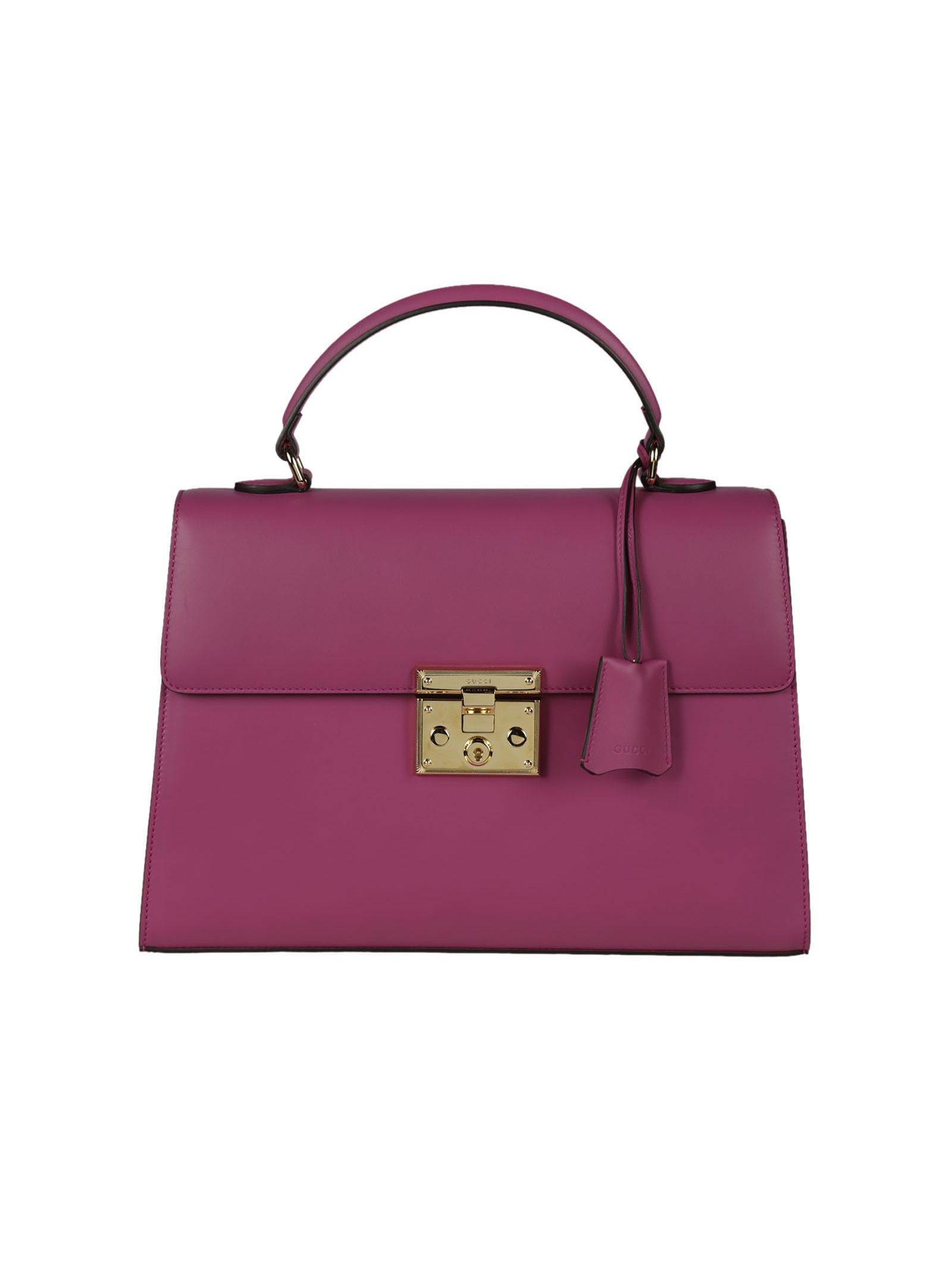 gucci female  gucci pink padlock handle bag