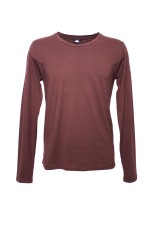 Altalana Flamed Cotton Long Sleeves Round Neck T-Shirt