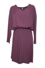 Altalana 100% Viscose V Neck Elastic Waist Dress