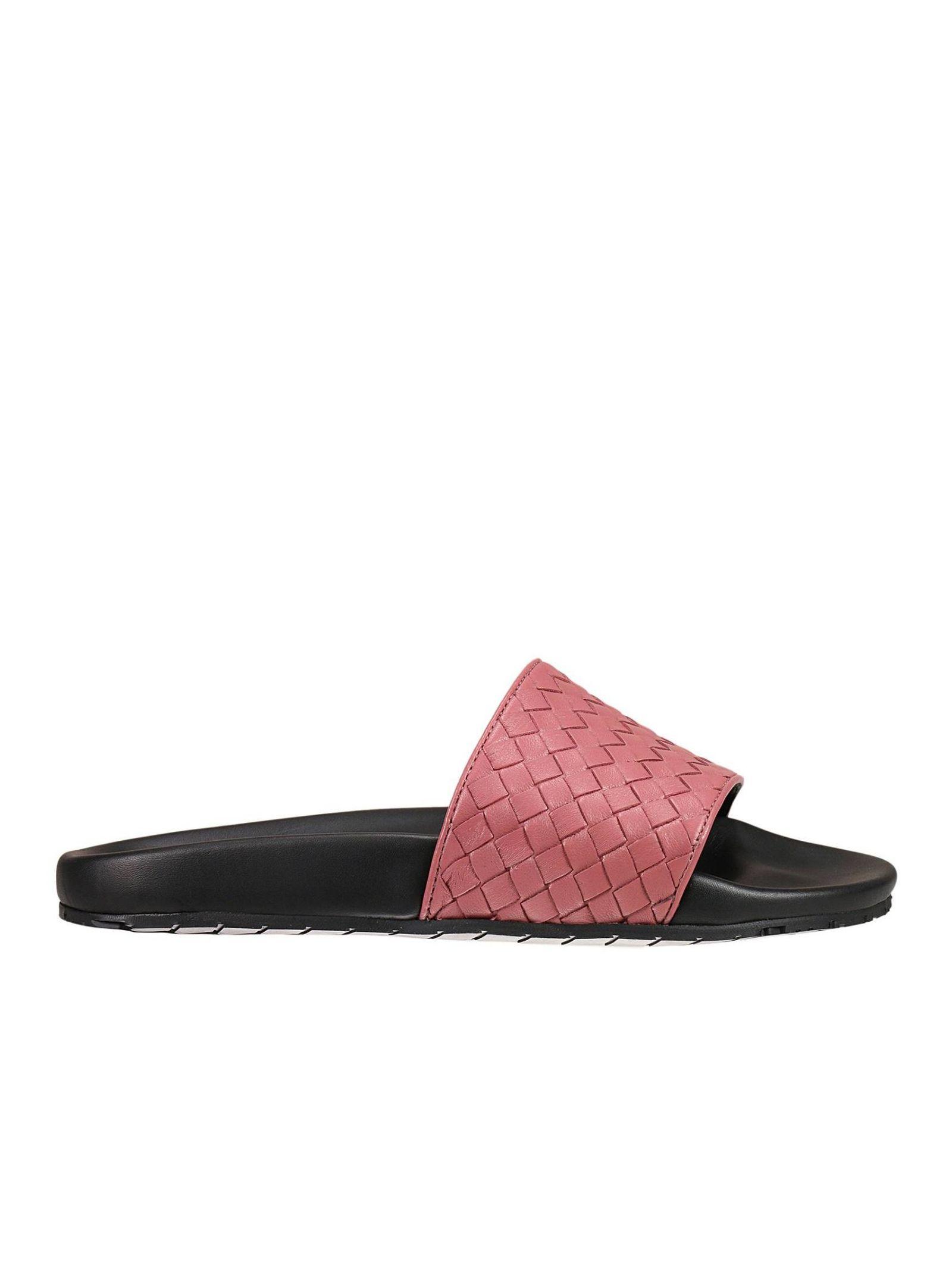 bottega veneta female flat sandals shoes woman bottega veneta