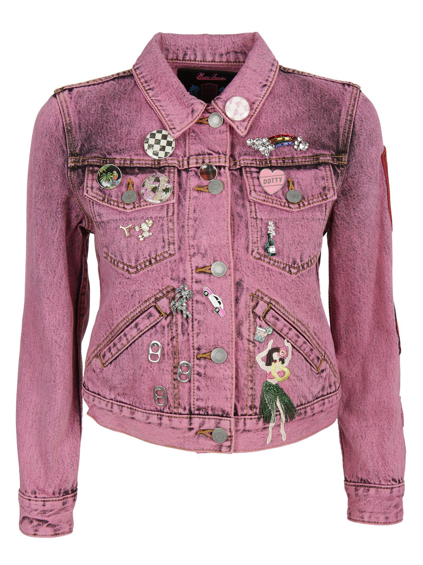 marc jacobs female marc jacobs shrunken embellished jacket