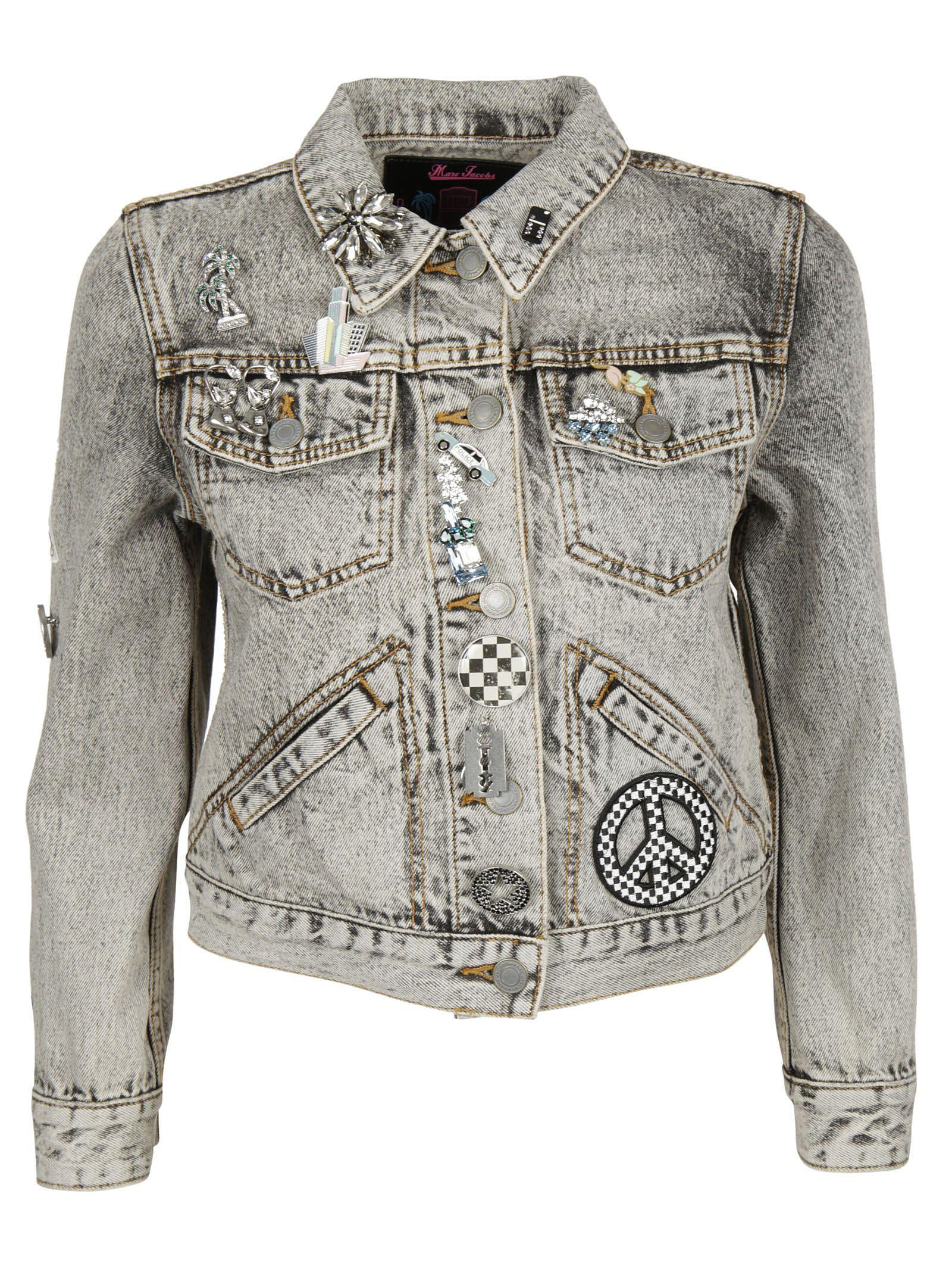 marc jacobs female marc jacobs embellished shrunken jacket