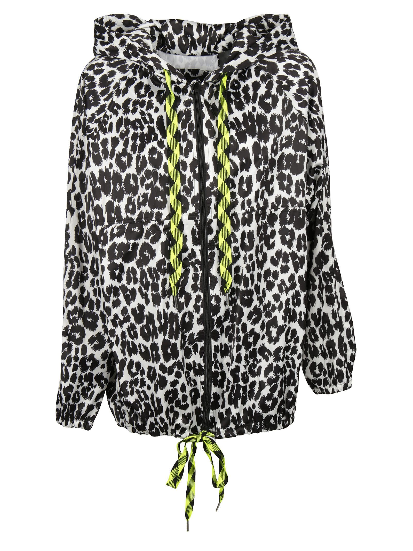 marc jacobs female marc jacobs leopard print hooded jacket