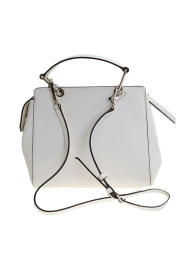 DKNY White Leather Bryant Park Mini Bag