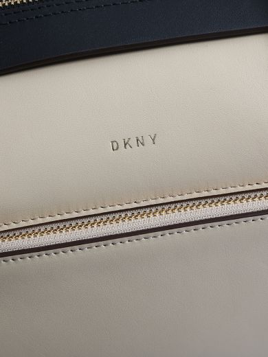 DKNY Beige Leather Greenwich Large Bag