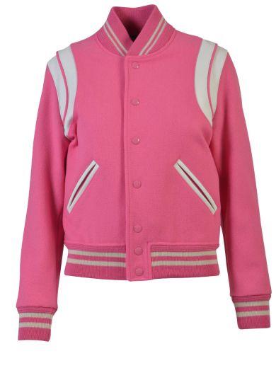 SAINT LAURENT Saint Laurent Teddy Jacket In Pink