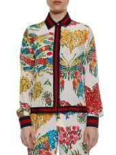 Gucci Long Sleeves Ribbon 'corsage' Shirt