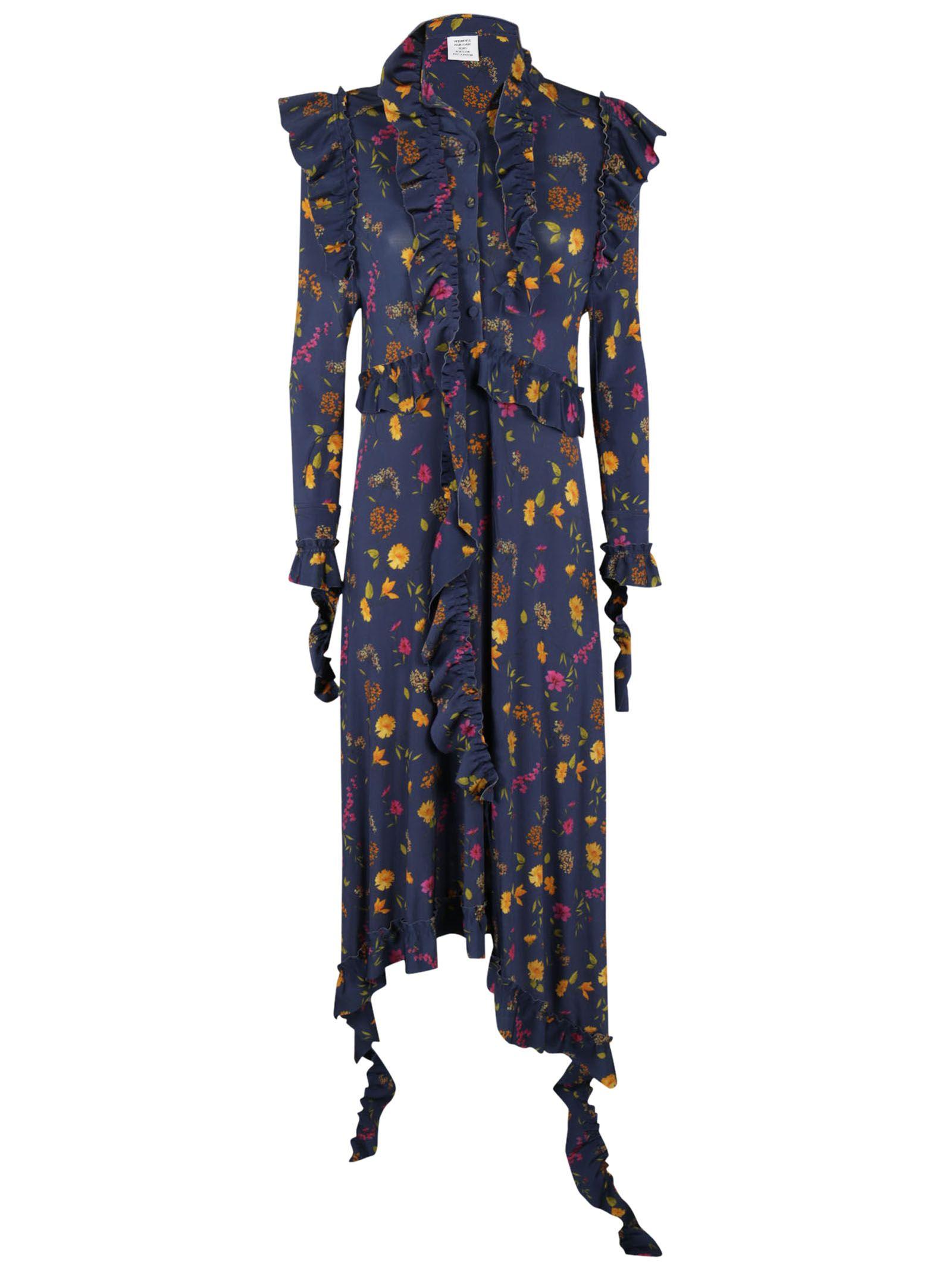 Vetements Floral Print Dress - VETEMENTS - Neri