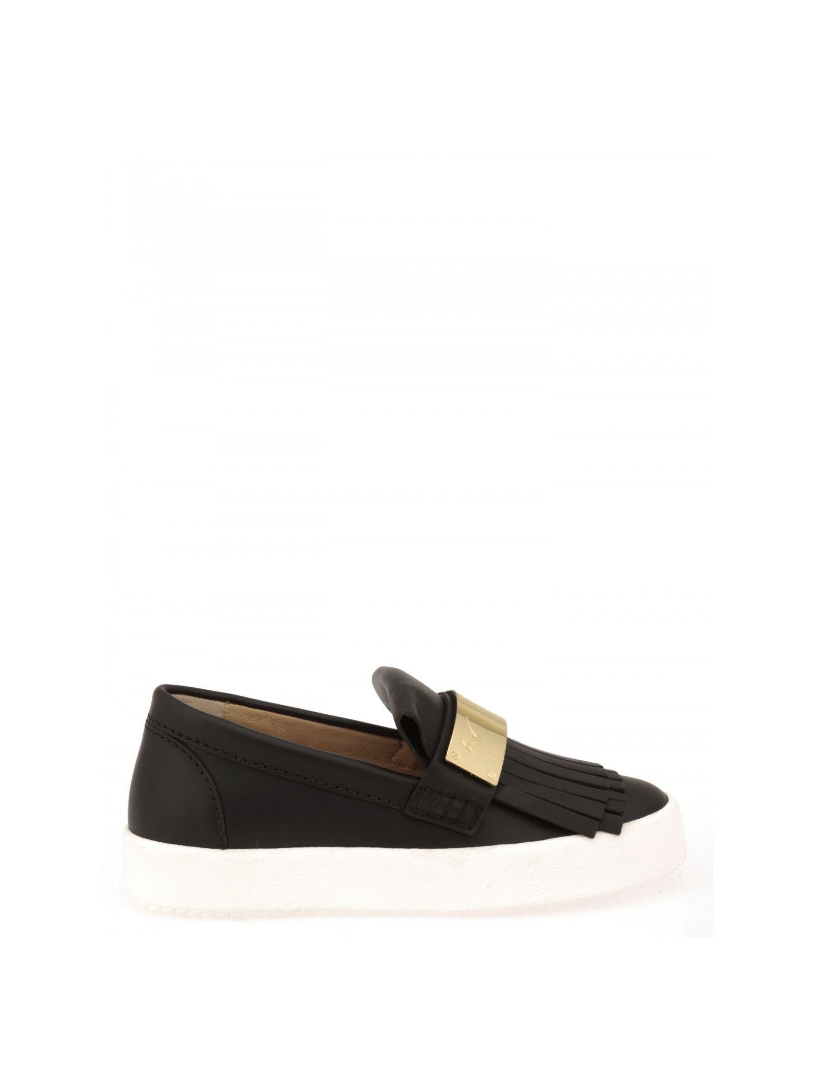 giuseppe zanotti female giuseppe zanotti design leather slipon sneakers