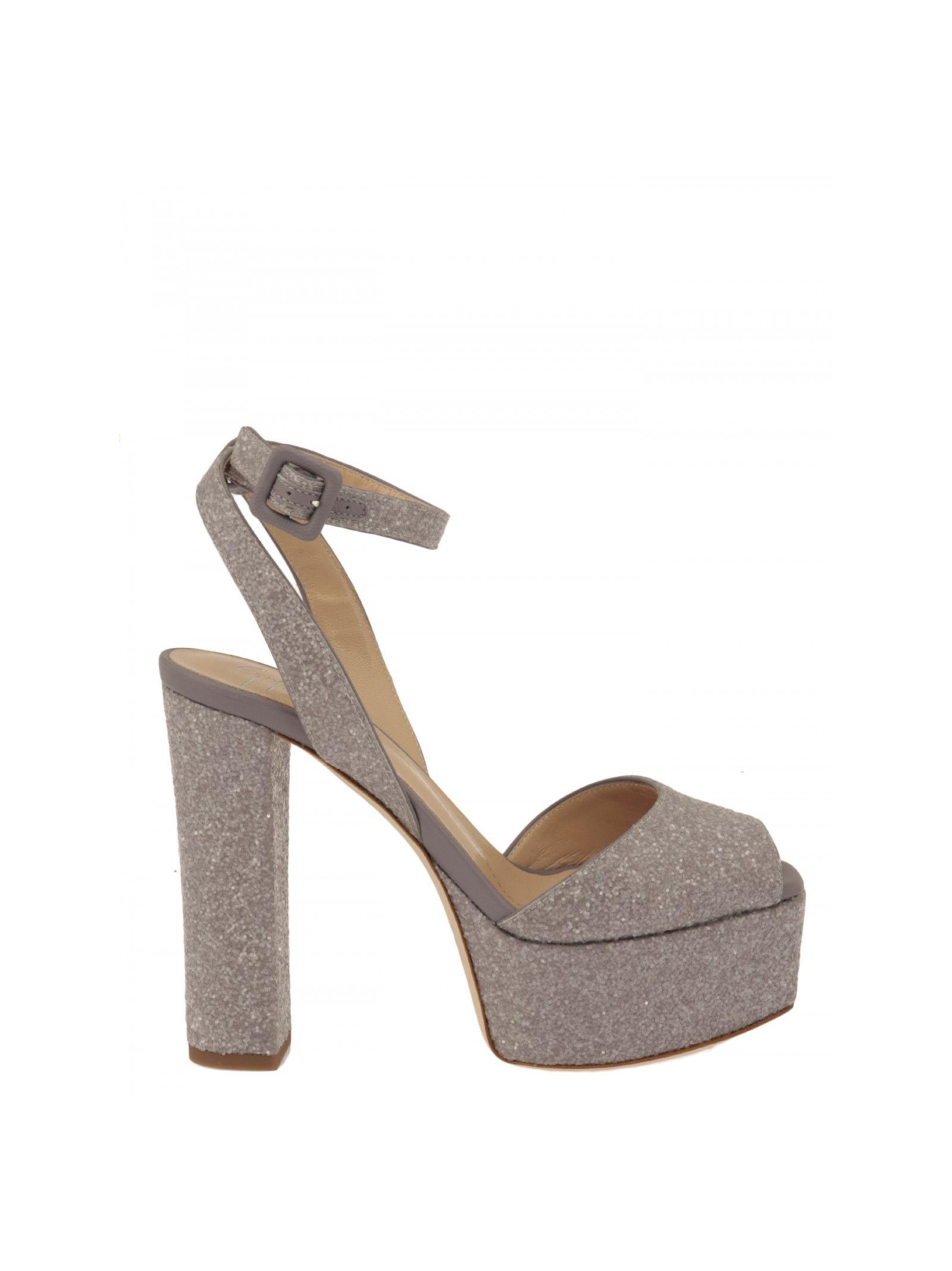 giuseppe zanotti female giuseppe zanotti design sandals with glitter