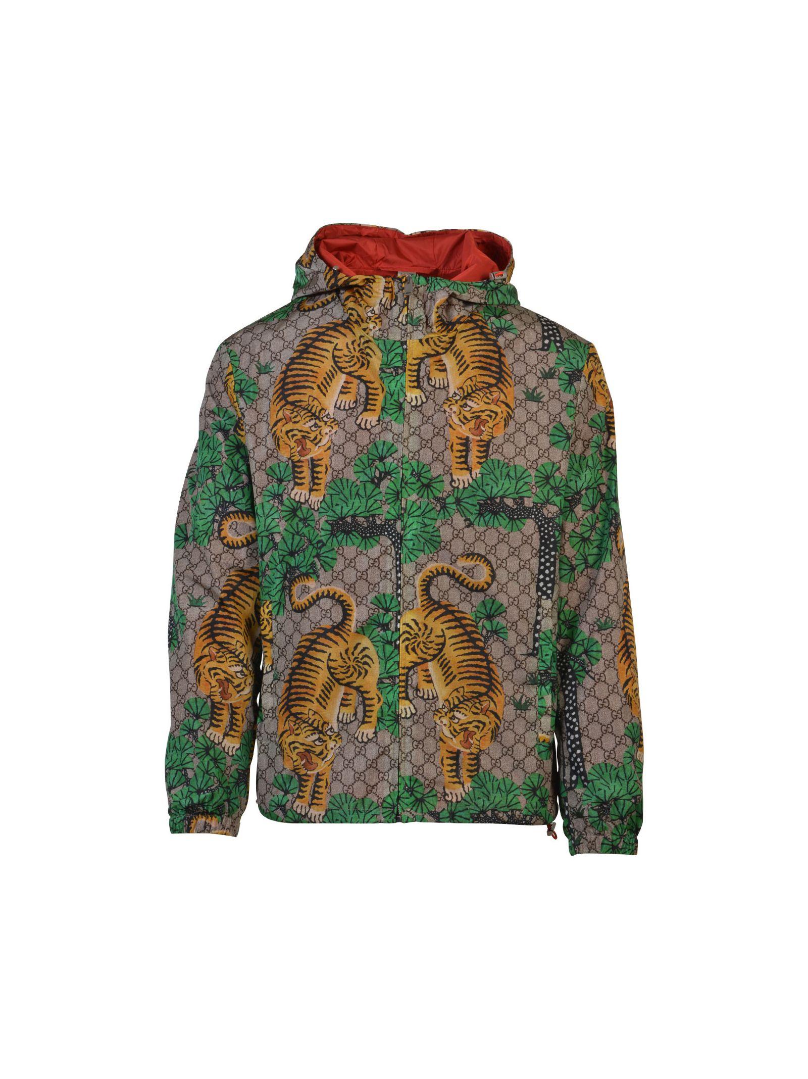 gucci male gucci gucci bengal print nylon jacket