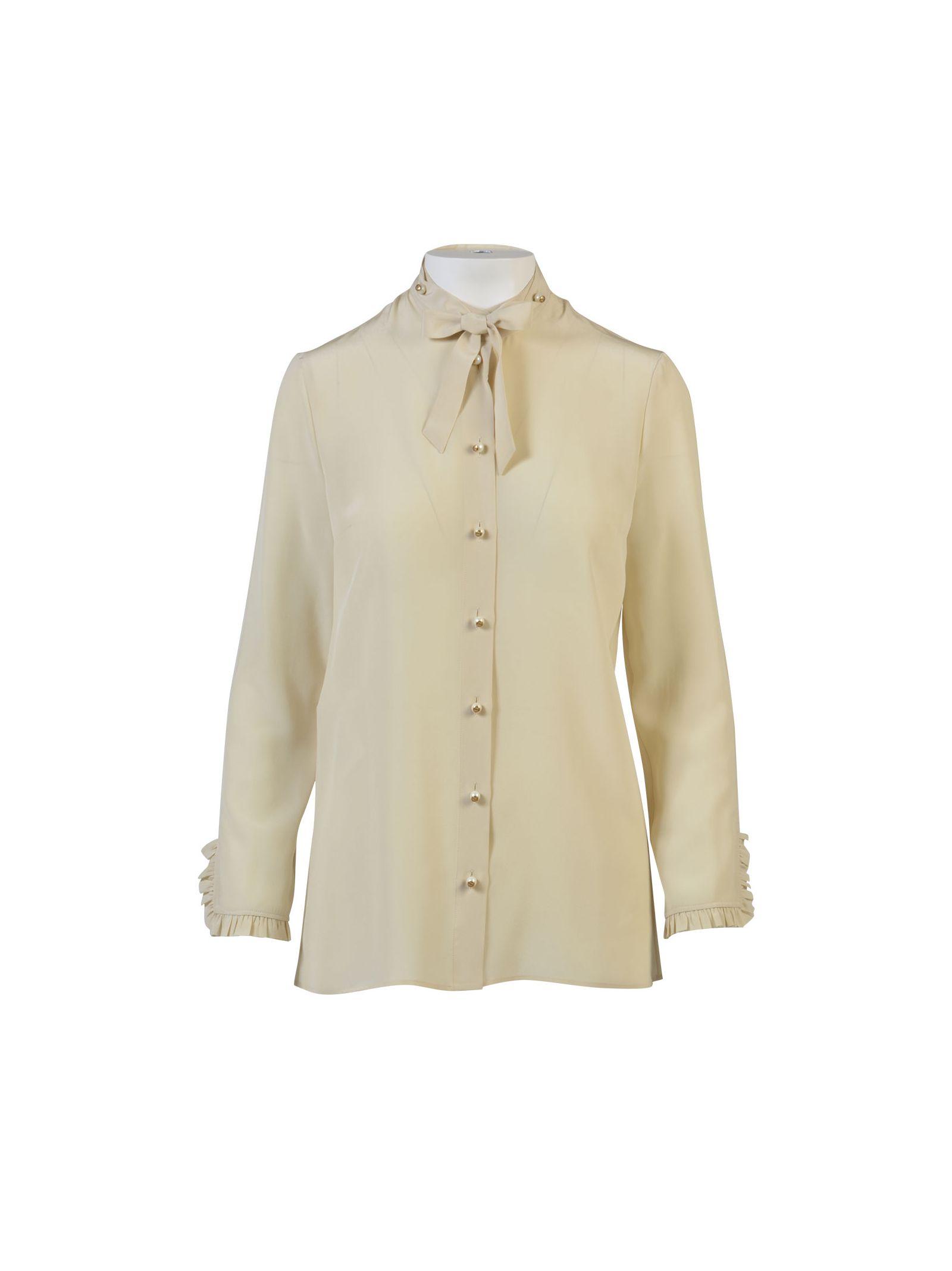 gucci female gucci silk buttondown shirt