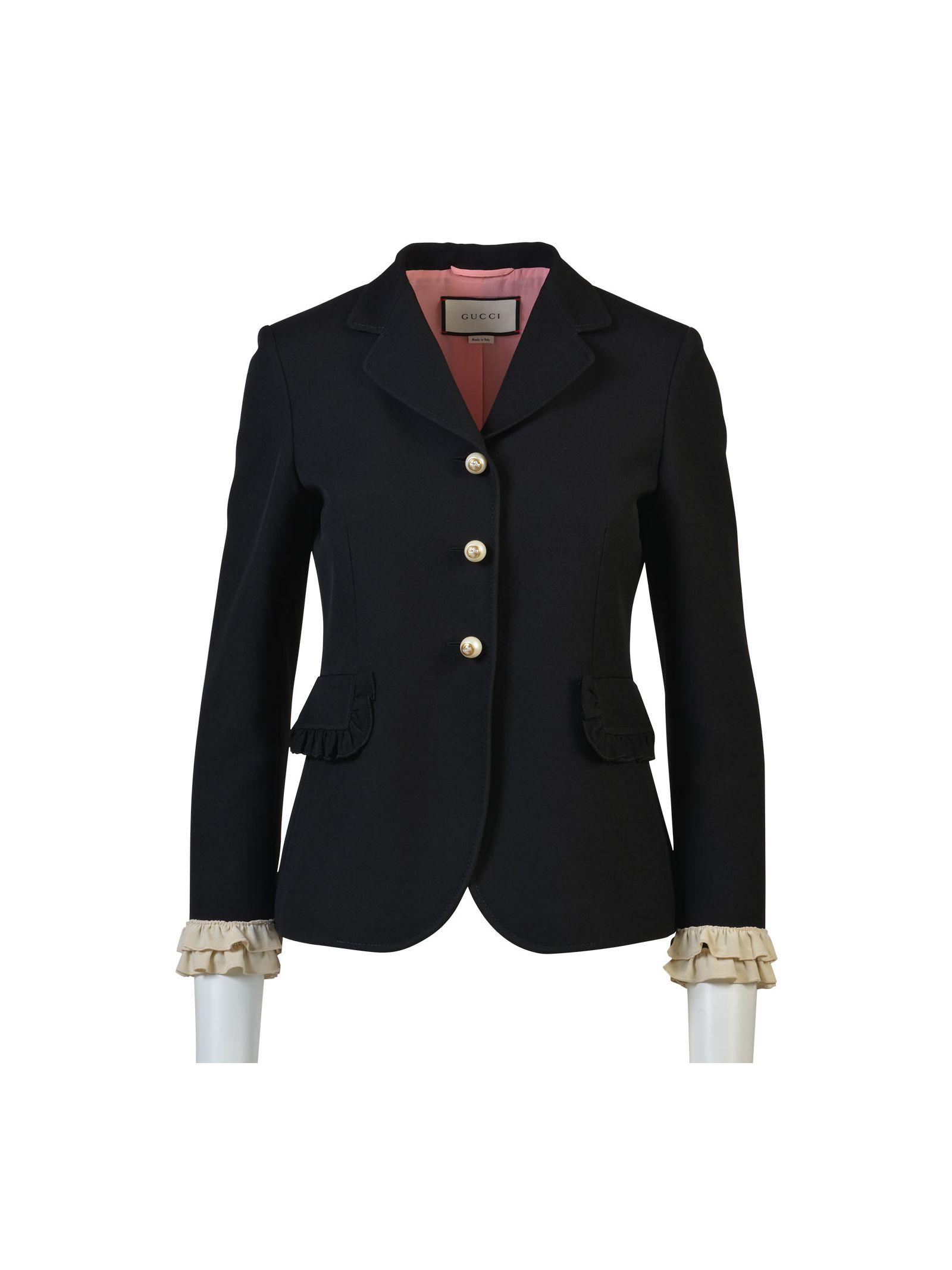 gucci female gucci silk wool jacket