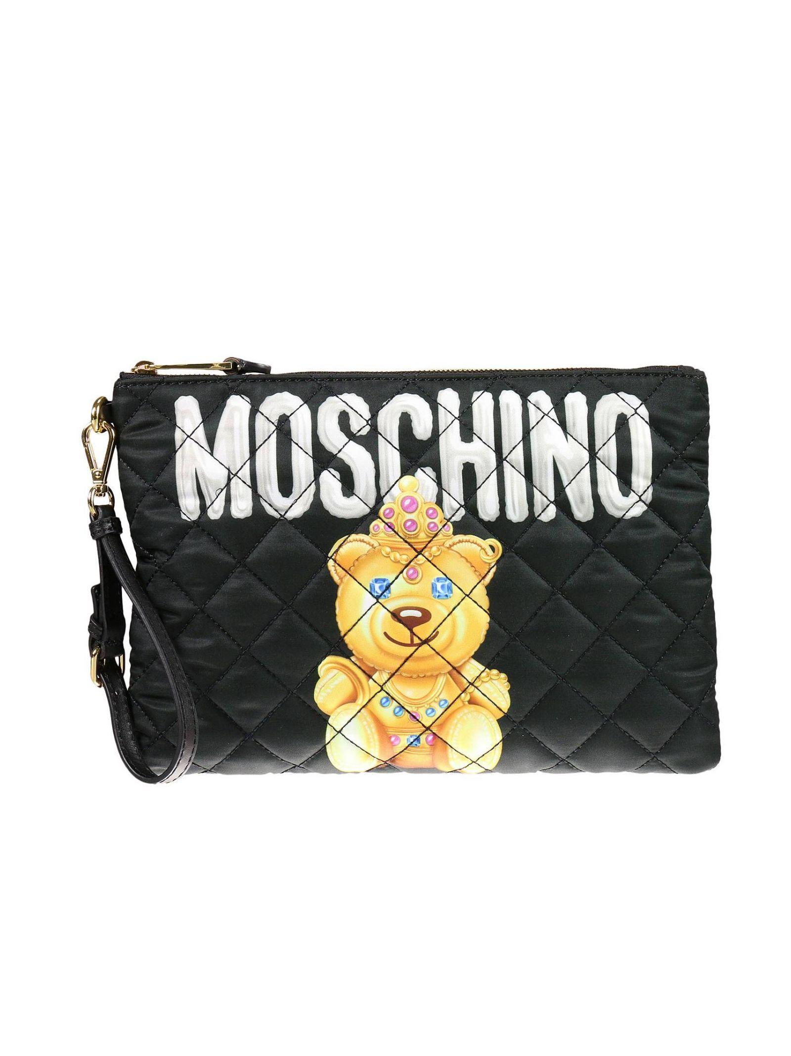moschino female clutch handbag women moschino couture