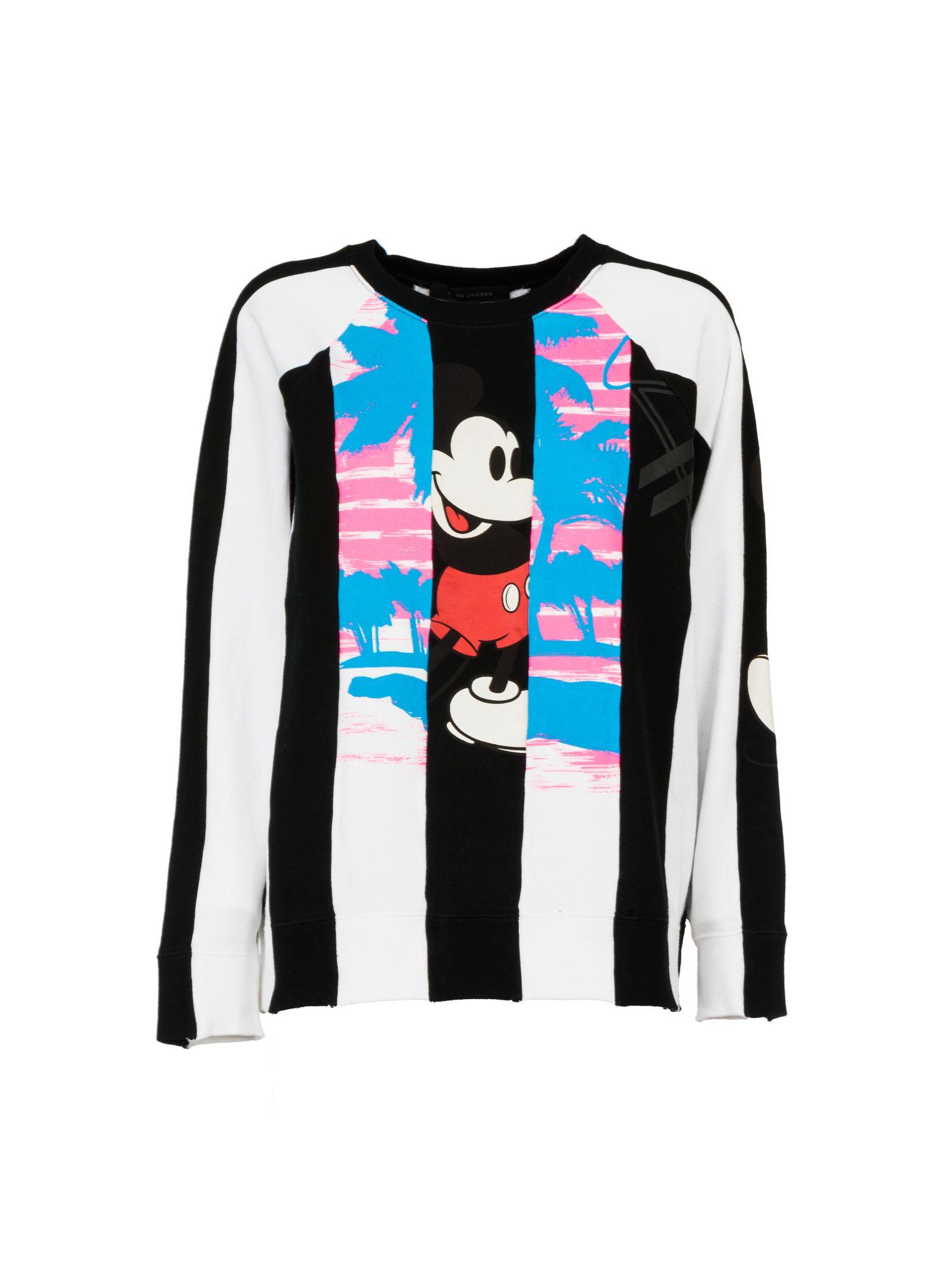 marc jacobs female marc jacobs striped panel sweatshirt