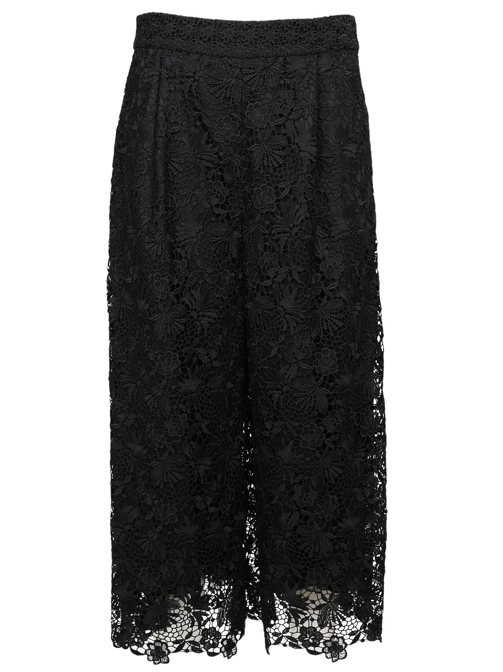 diane von furstenberg female diane von fustenburg floral lace trousers