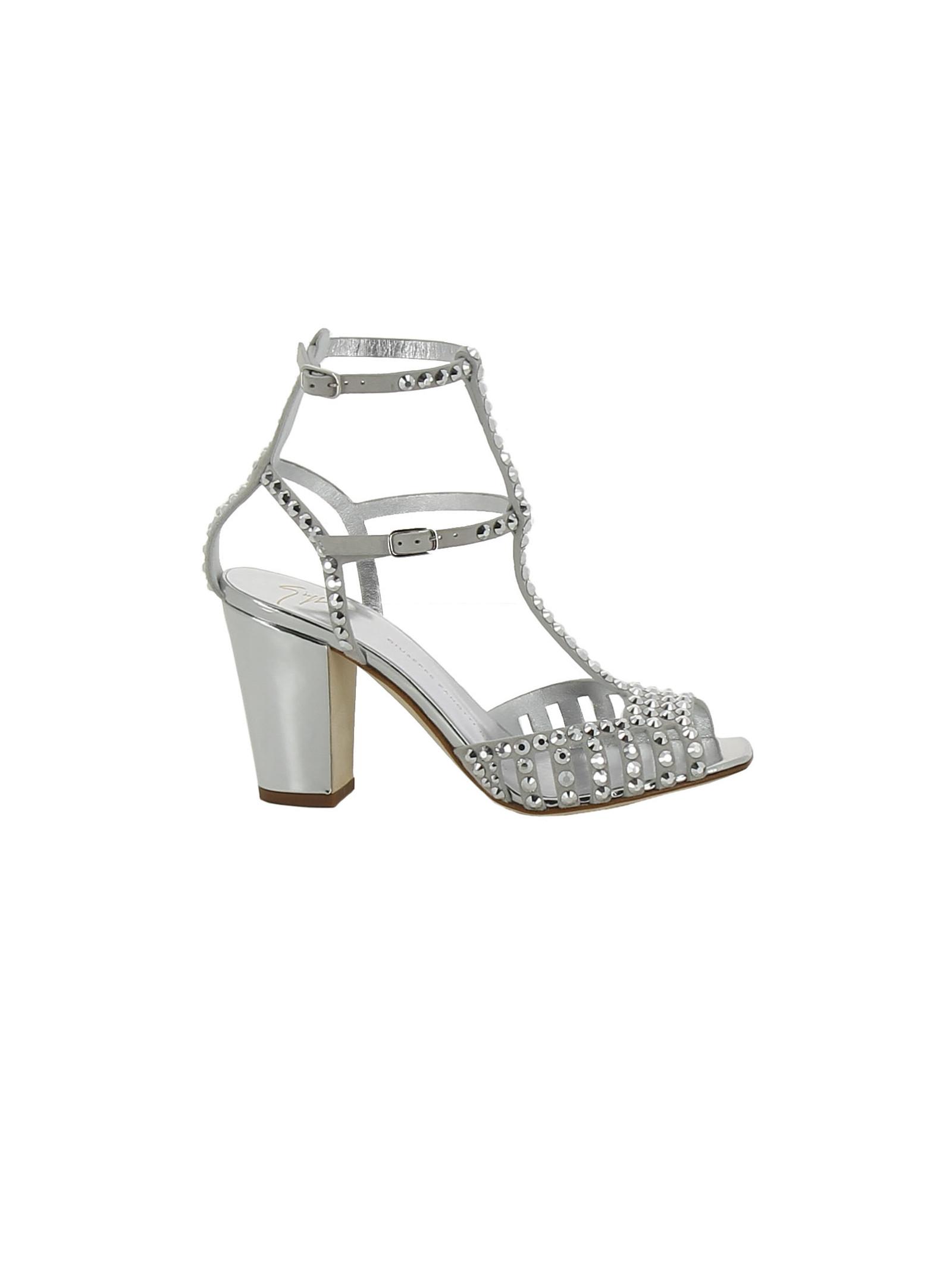 giuseppe zanotti female giuseppe zanotti studded caged sandals