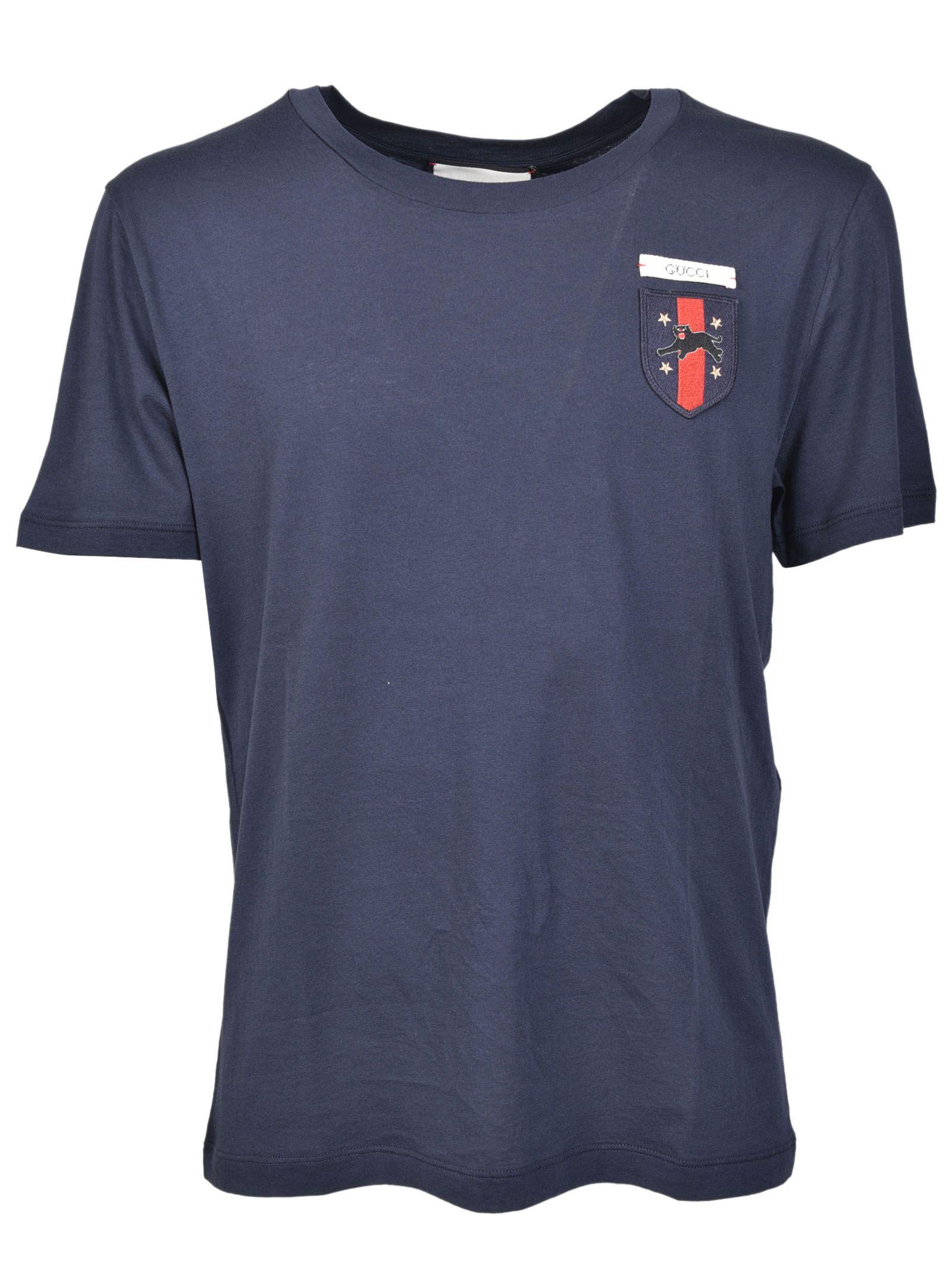 gucci male gucci emblem patch tshirt