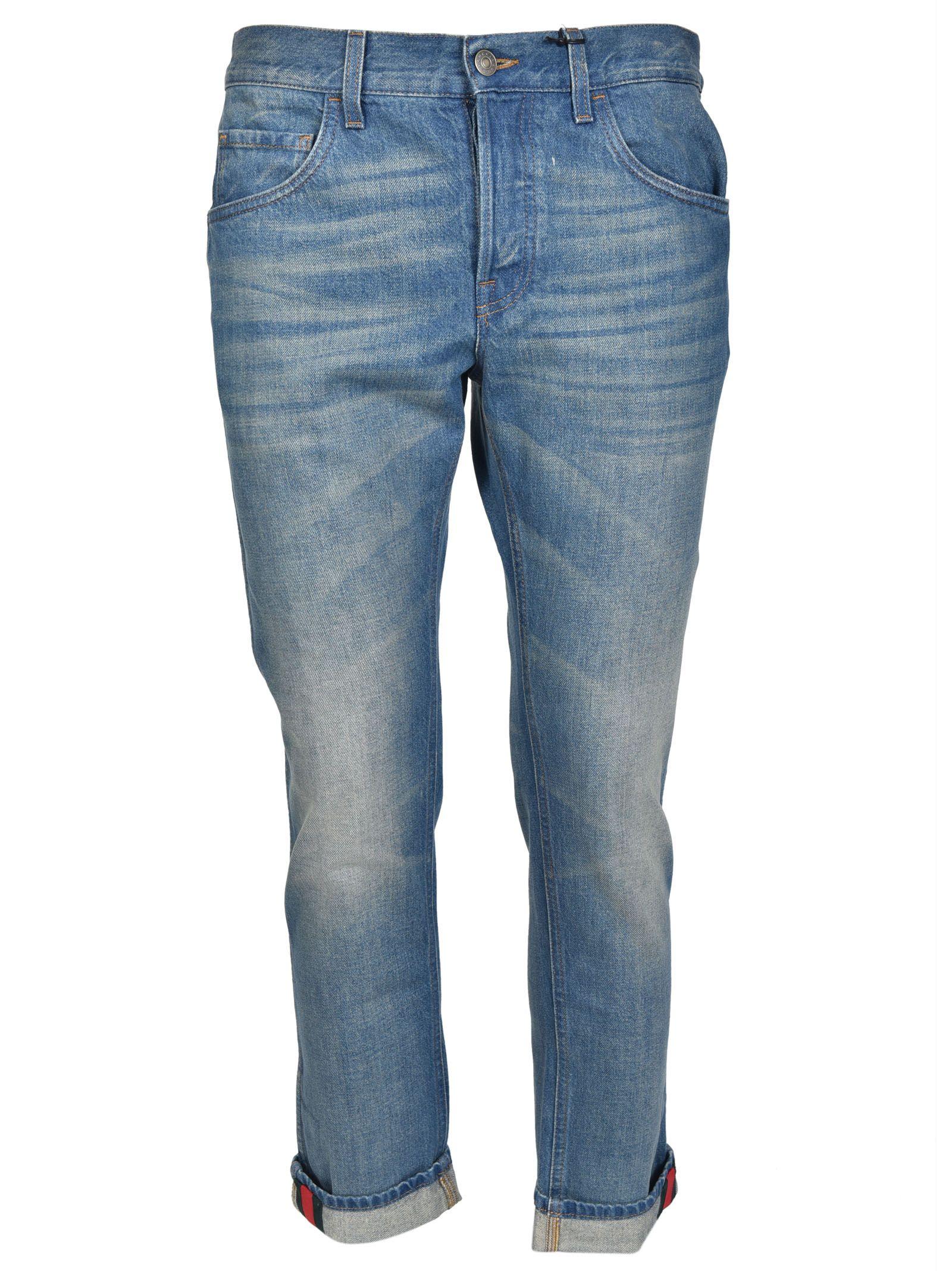 gucci male gucci web stripe jeans
