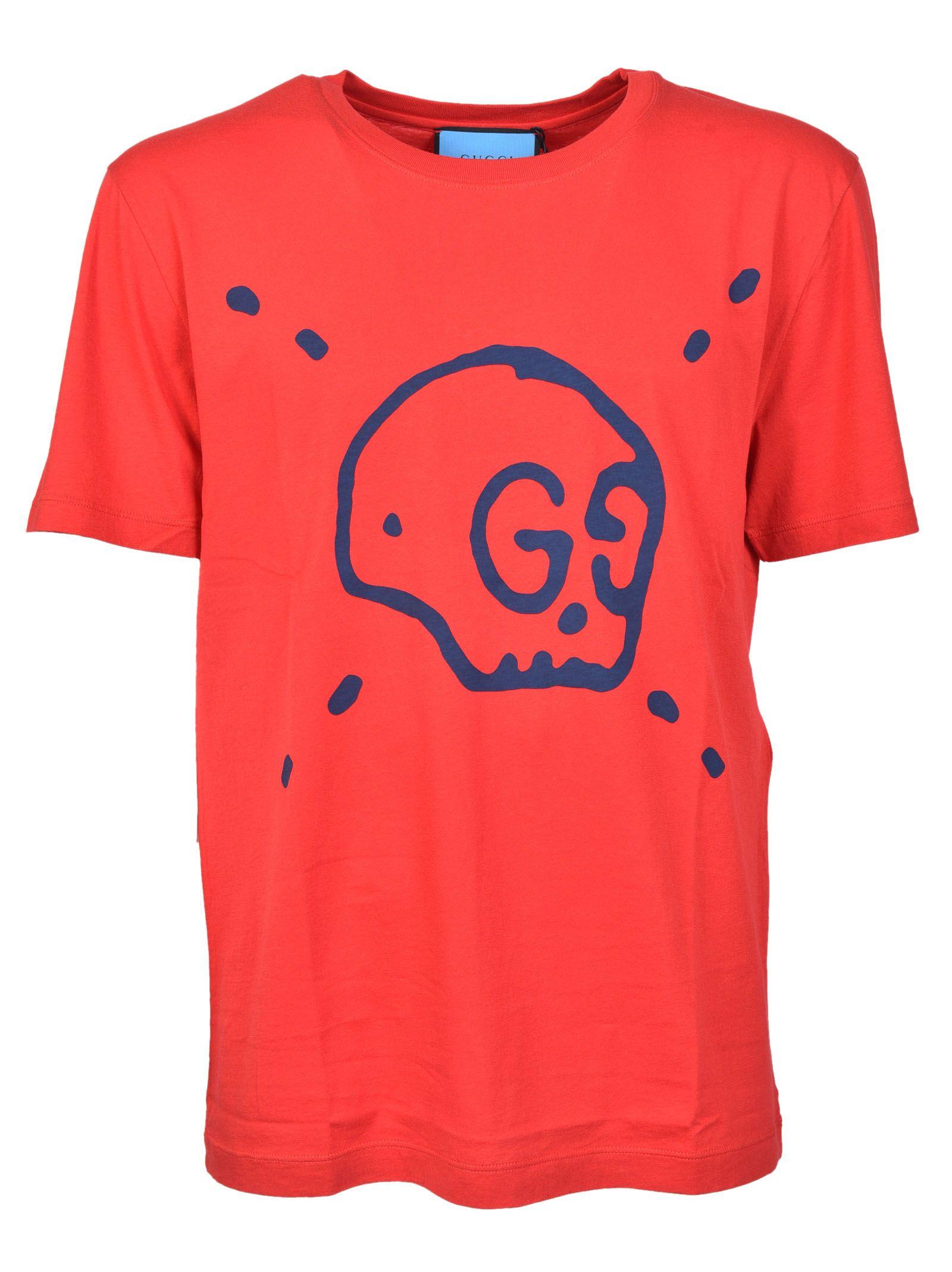 gucci male gucci ghost tshirt