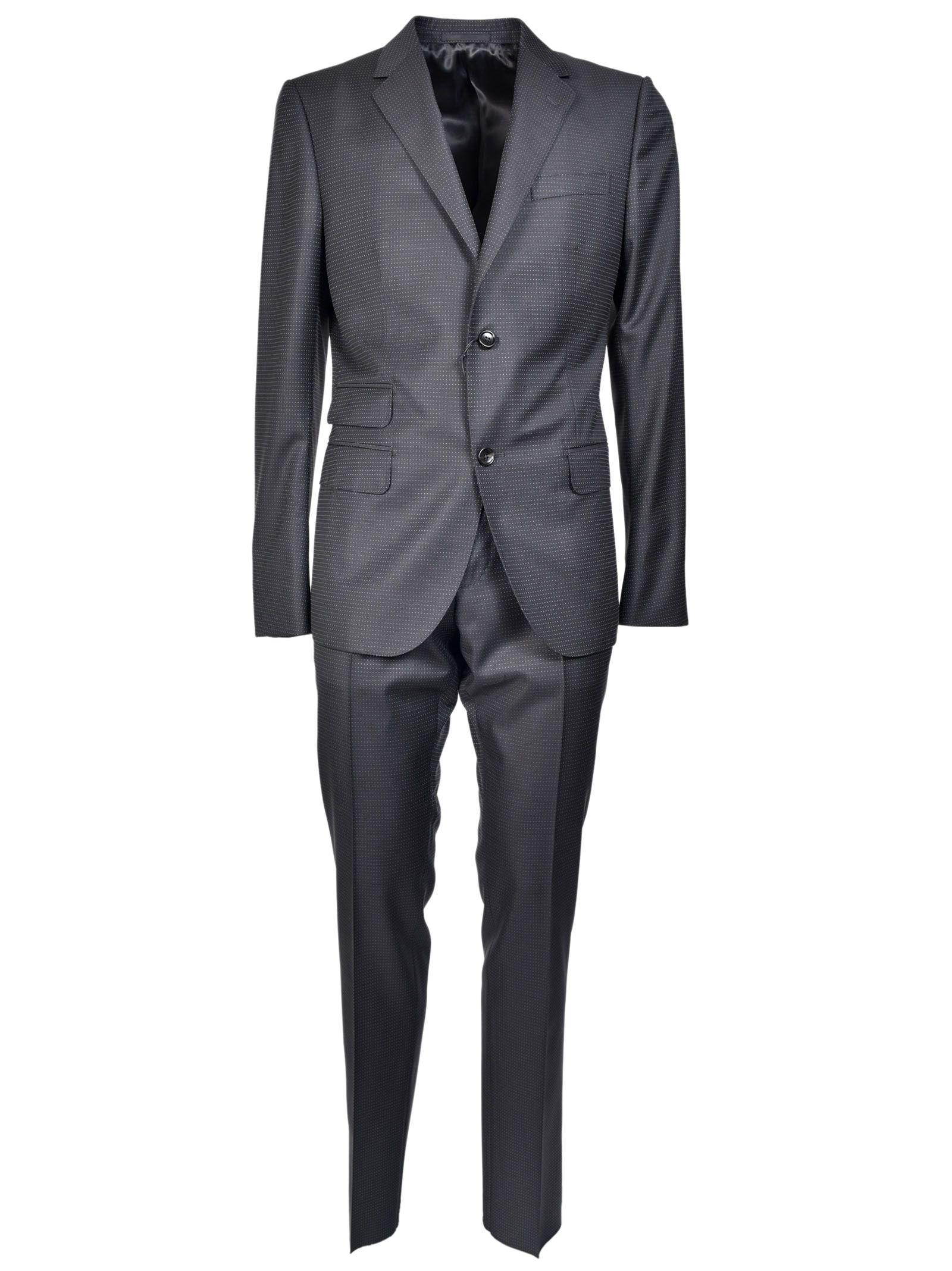 gucci male gucci dot patterned suit