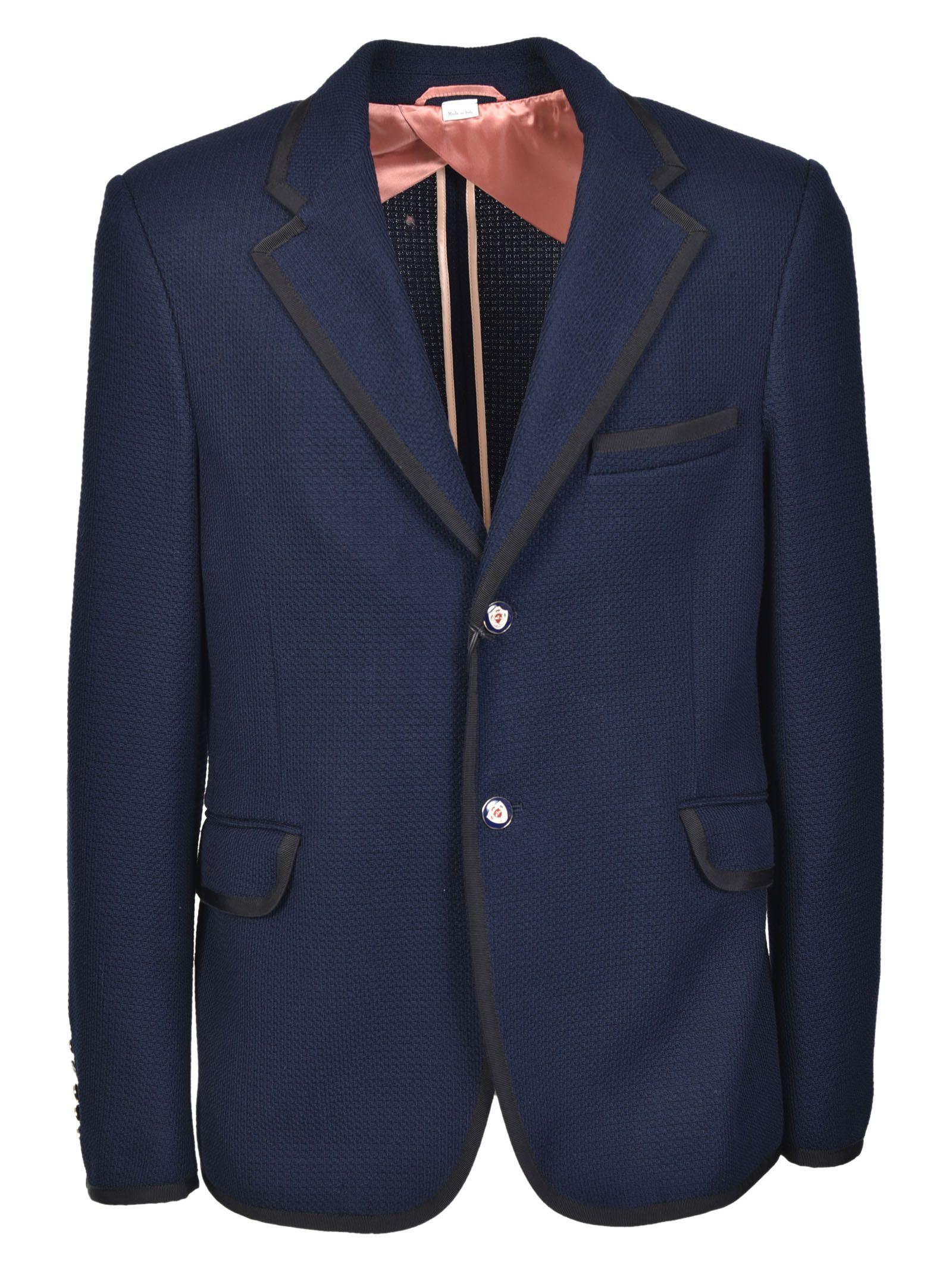 gucci male gucci two button textured blazer