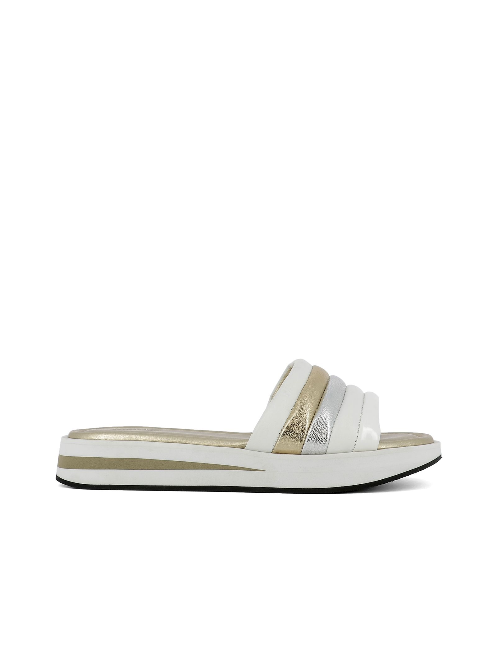 michael kors female white leather sandals