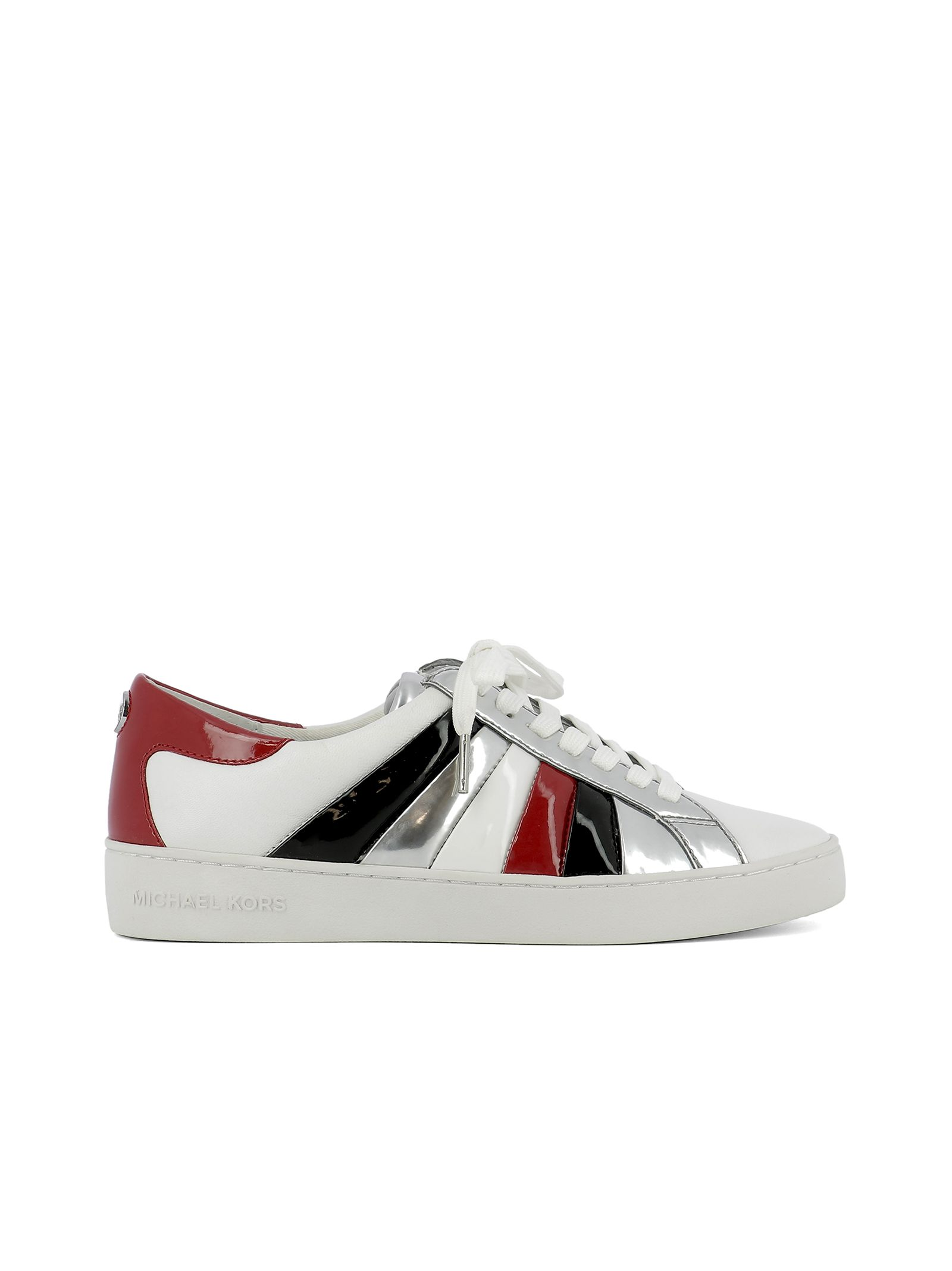 michael kors female white leather sneakers