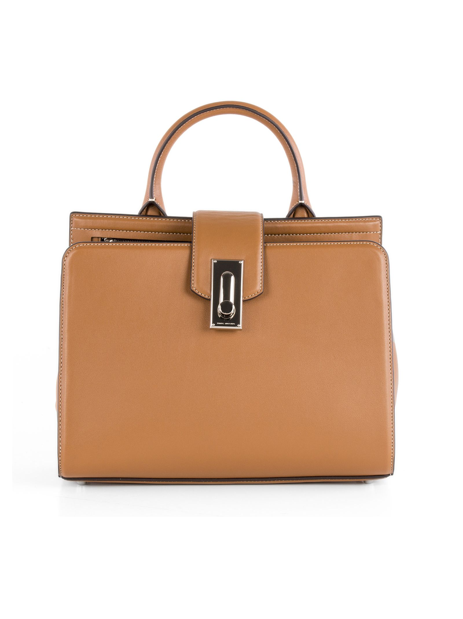 marc jacobs female marc jacobs brown leather handle bag