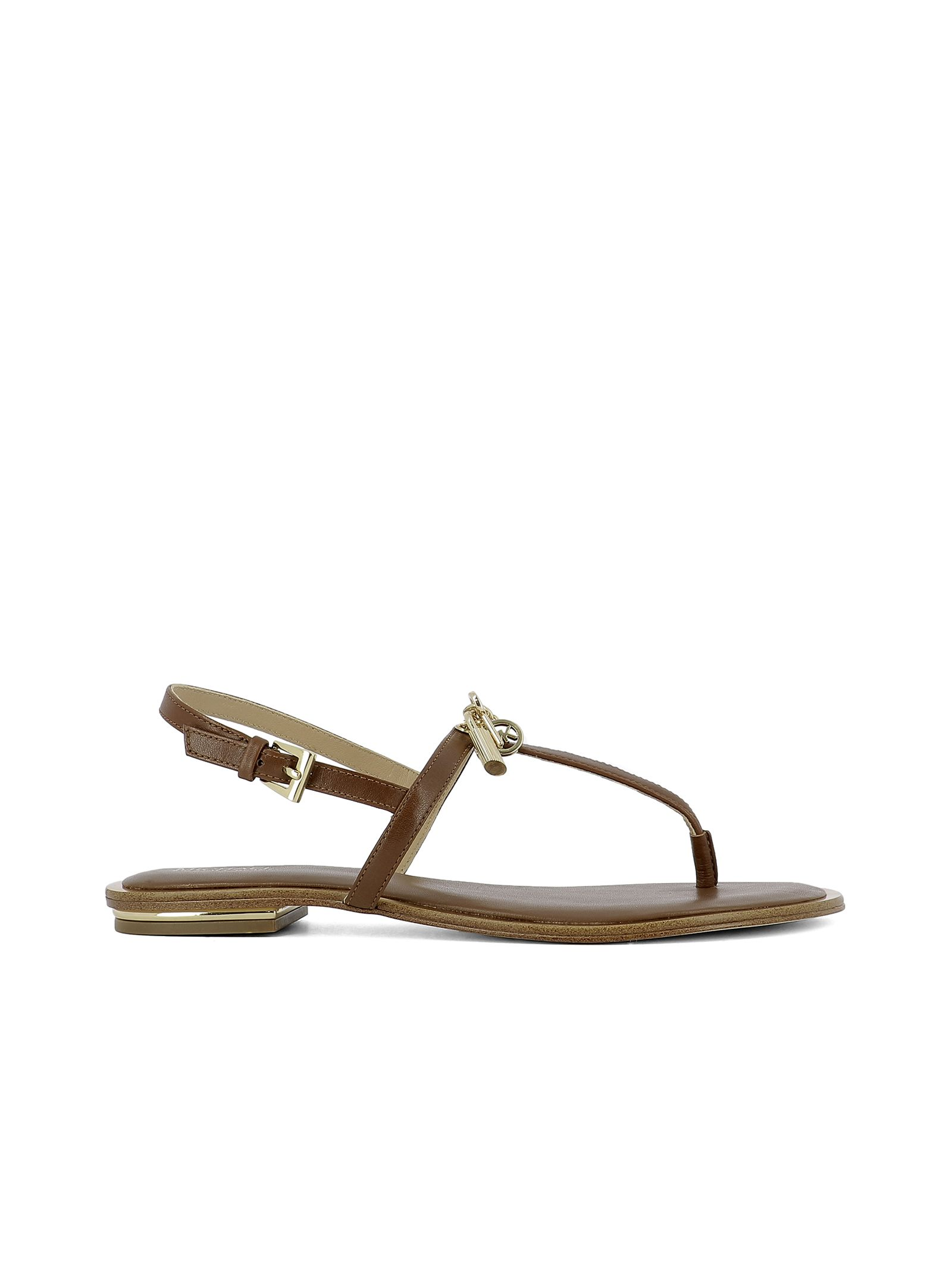 michael kors female brown leather sandals