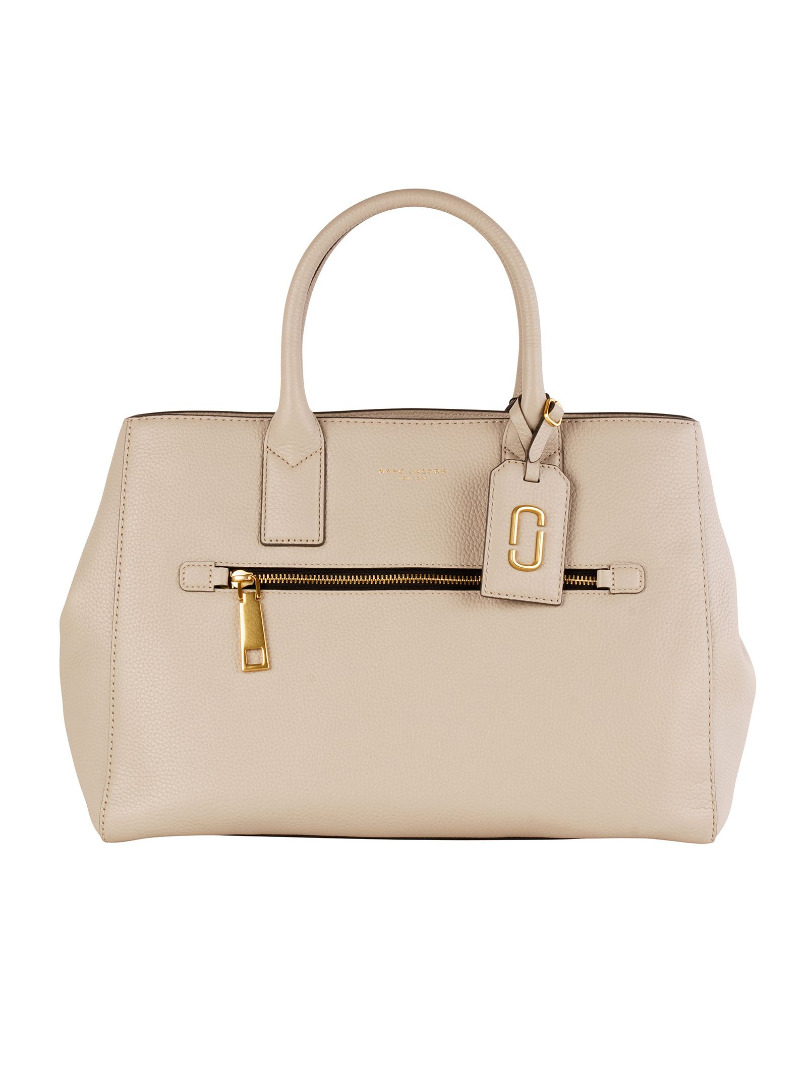 marc jacobs female marc jacobs grey leather handle bag