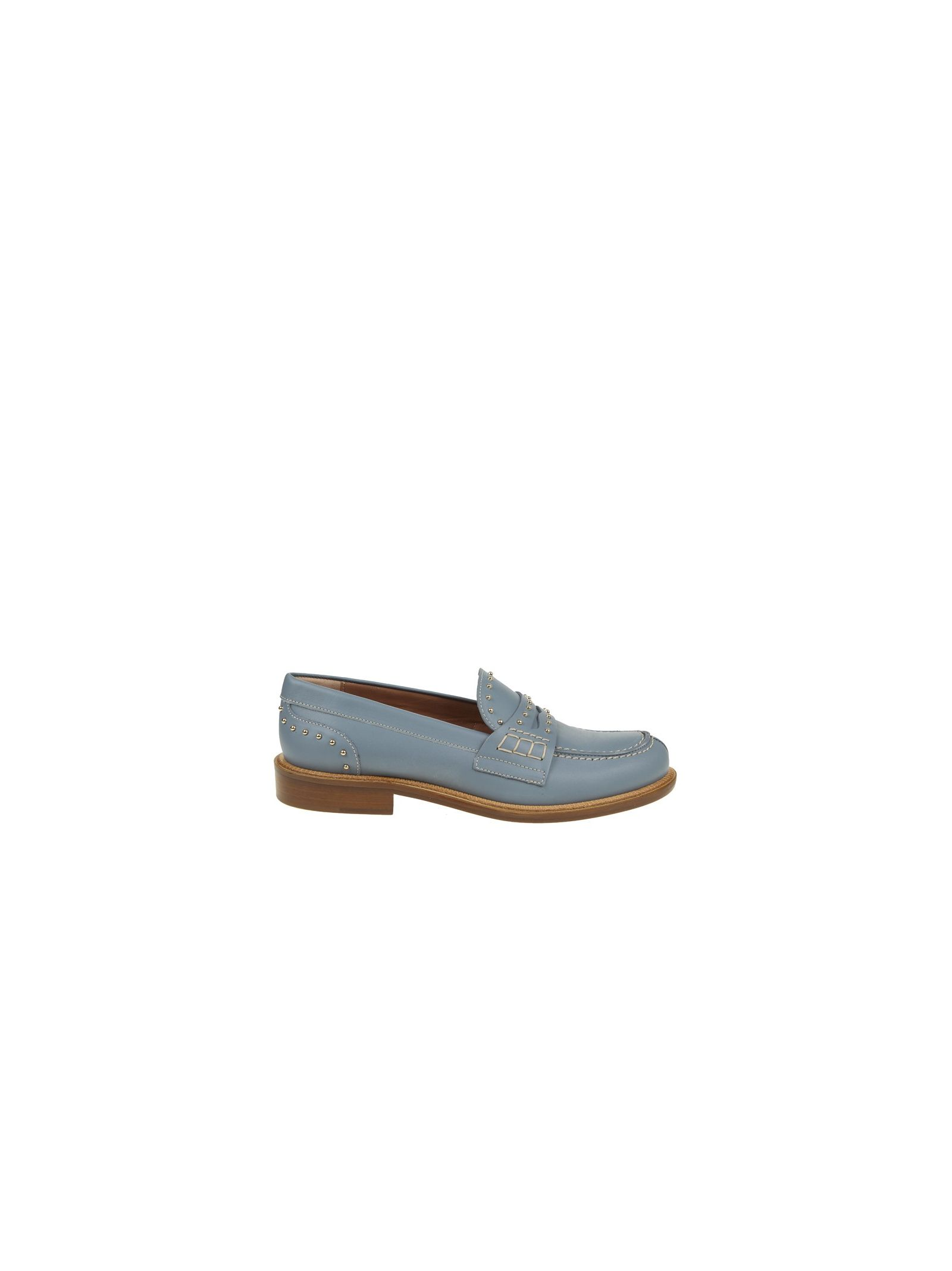 red valentino female red valentinoloafer in light blue leather