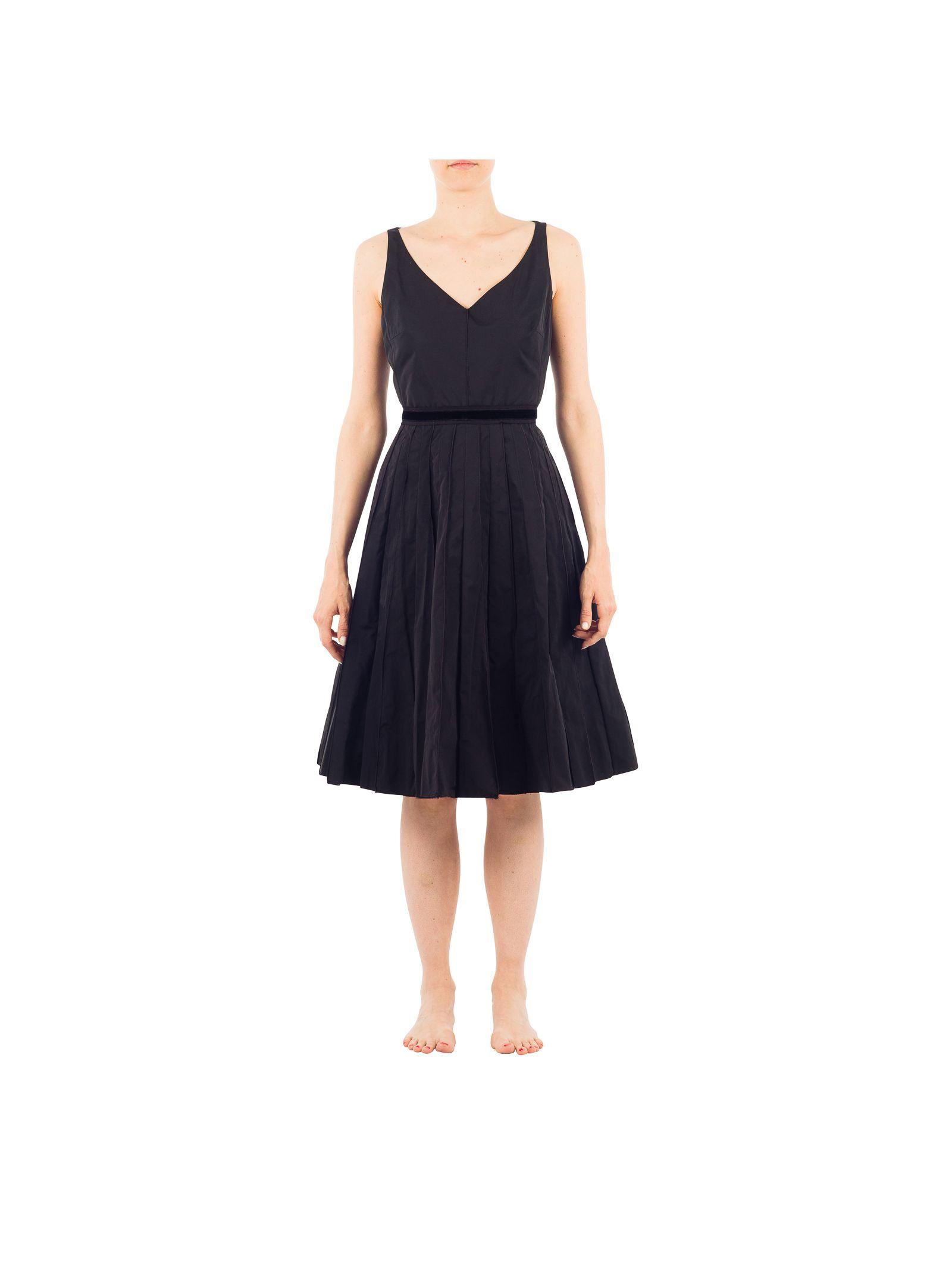 marc jacobs female marc jacobs black polyester dress