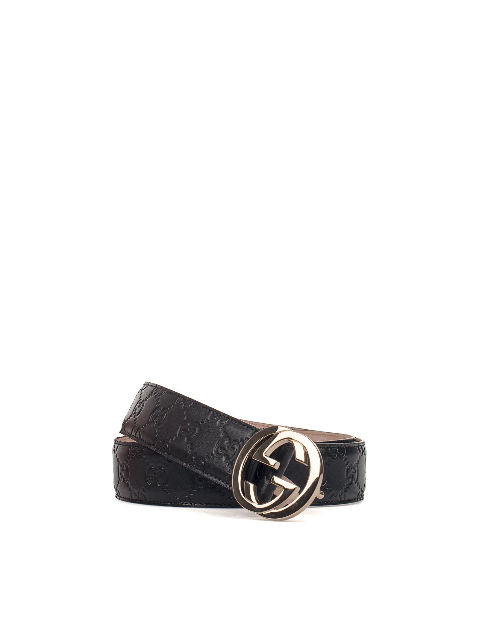 gucci female black guccissima leather belt