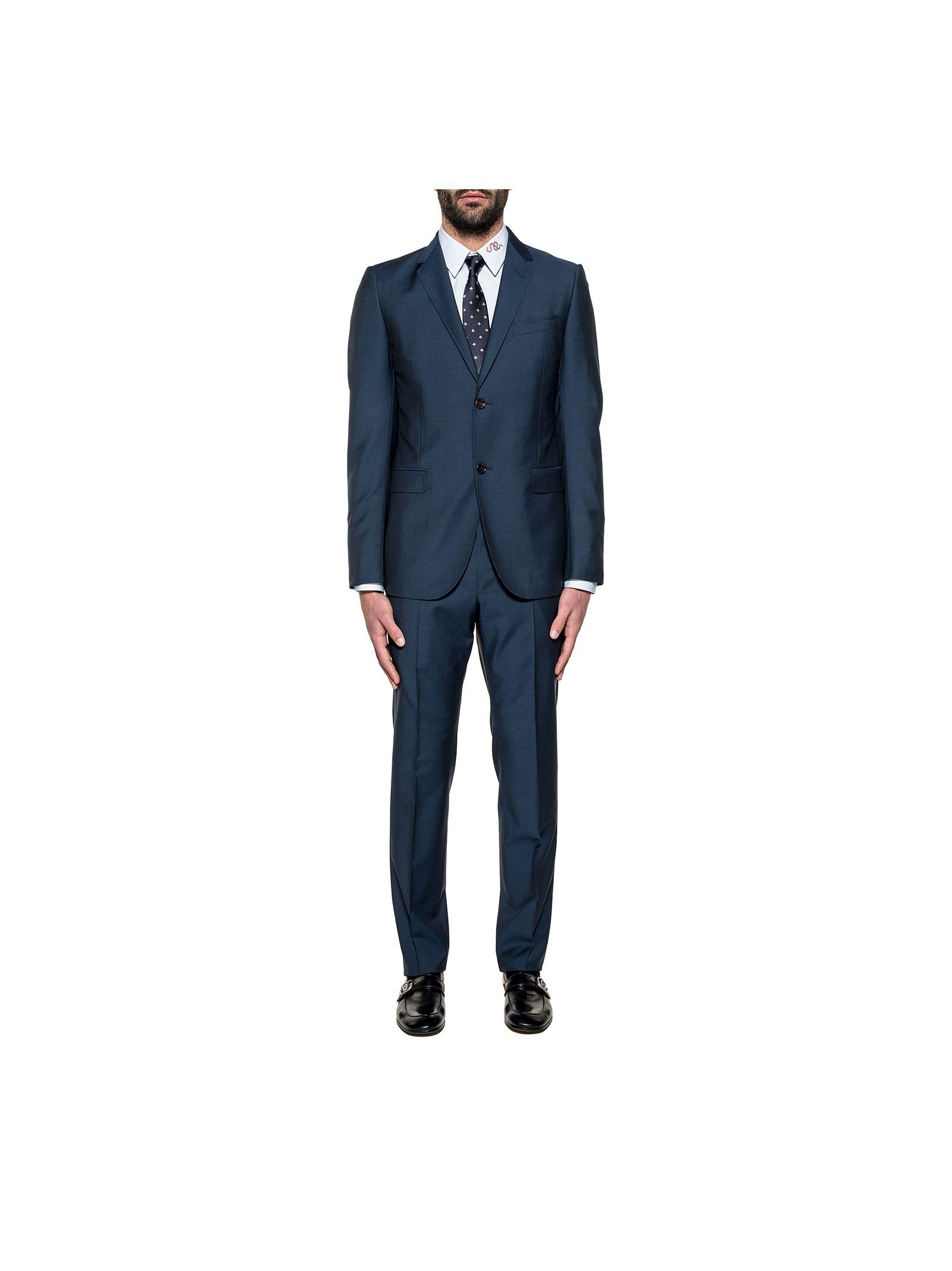 gucci male dark blue monaco wool 2 piece suit