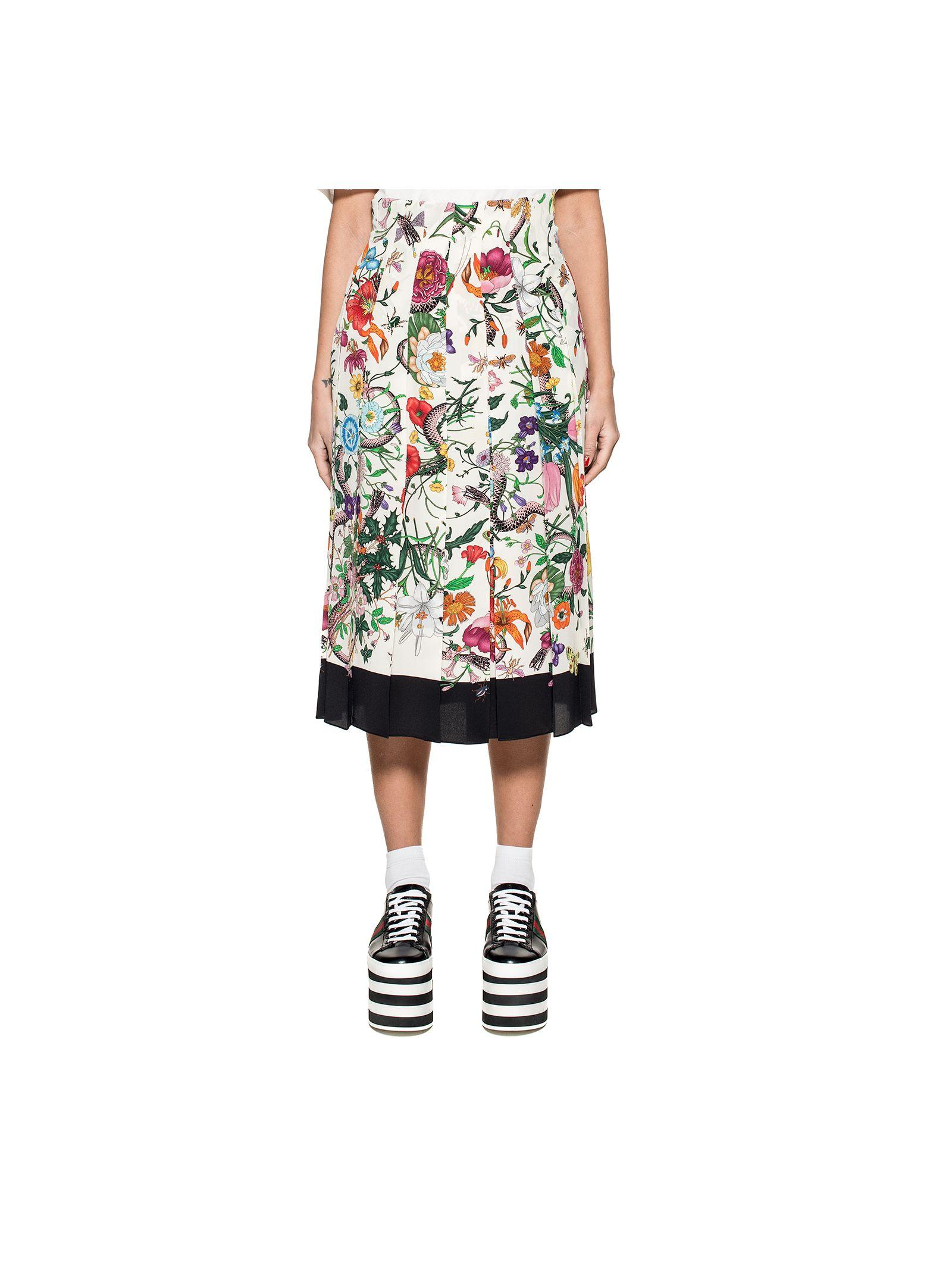 gucci female whiteblack gucci snake silk skirt